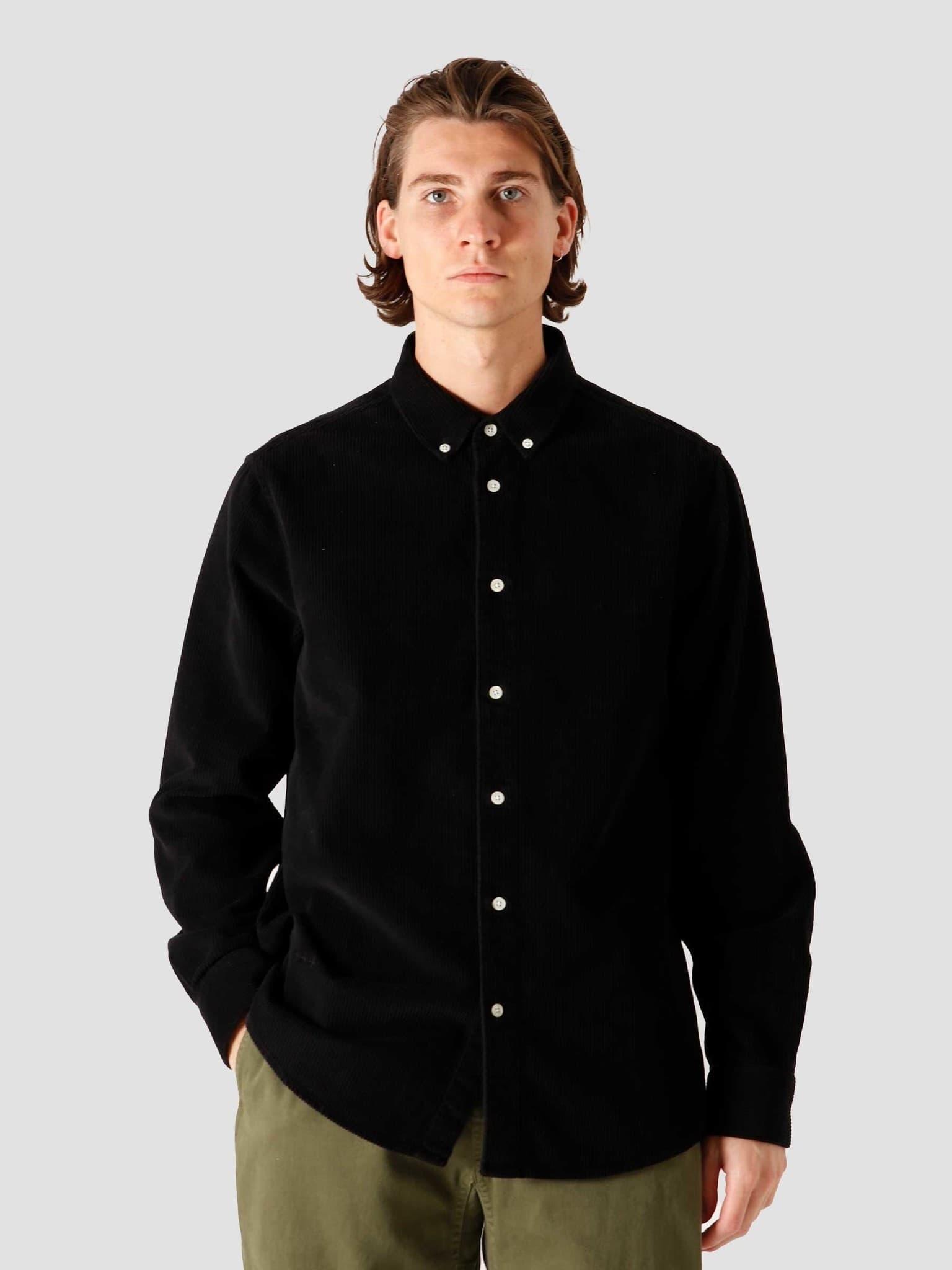 QB41 Cord Shirt Black