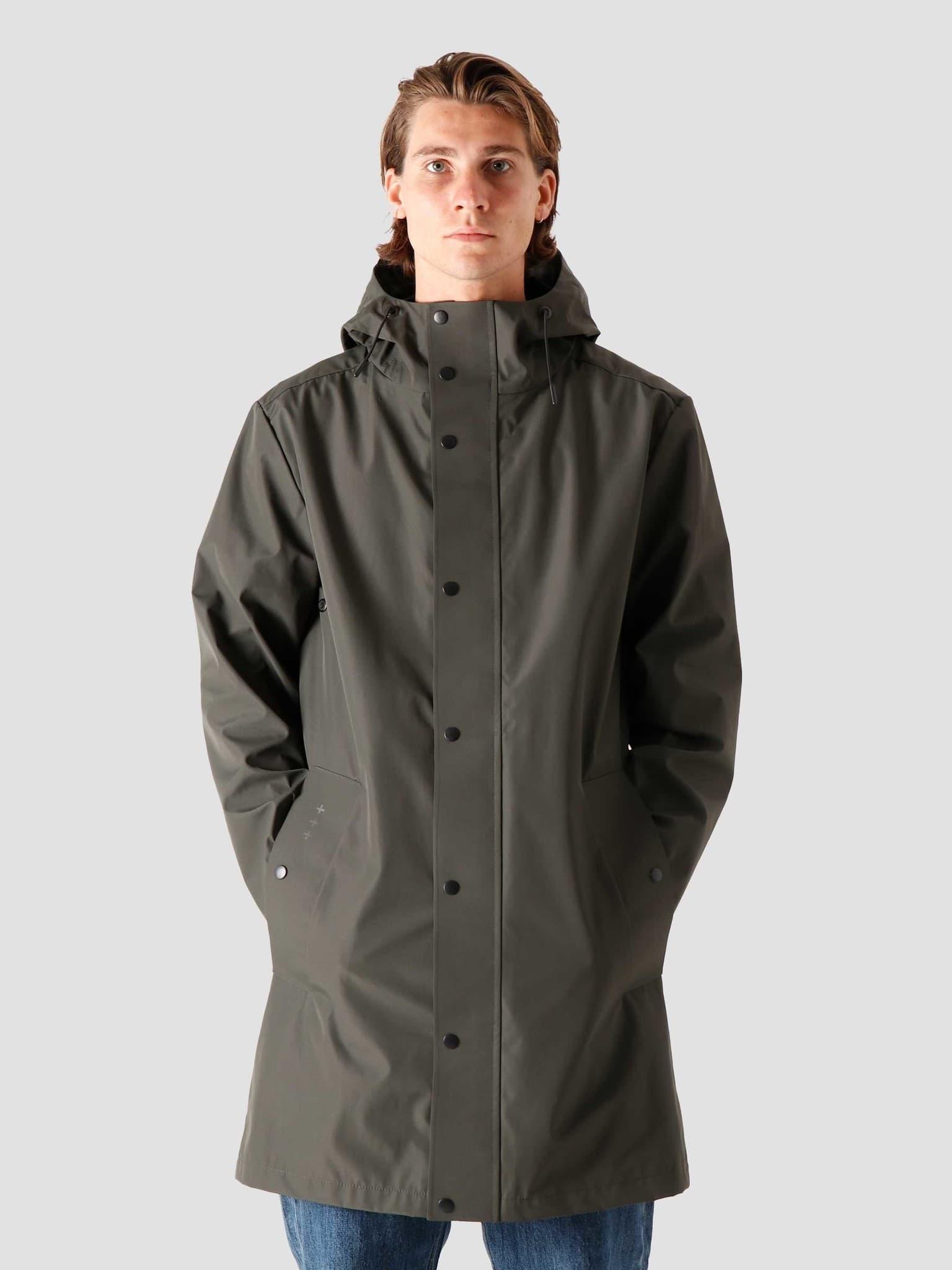 QB220 Rain Coat Military Green