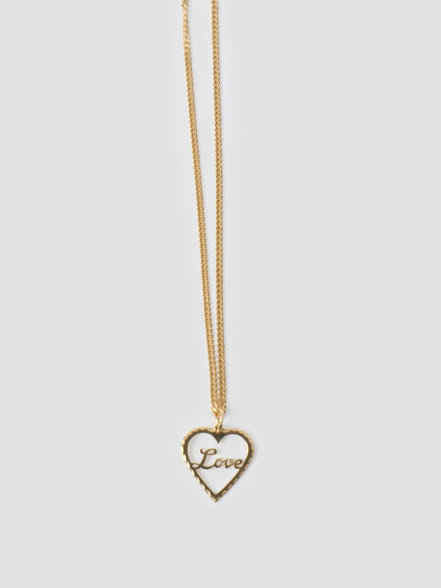 by Freshcotton Love Necklace 55cm 14K Gold Plated
