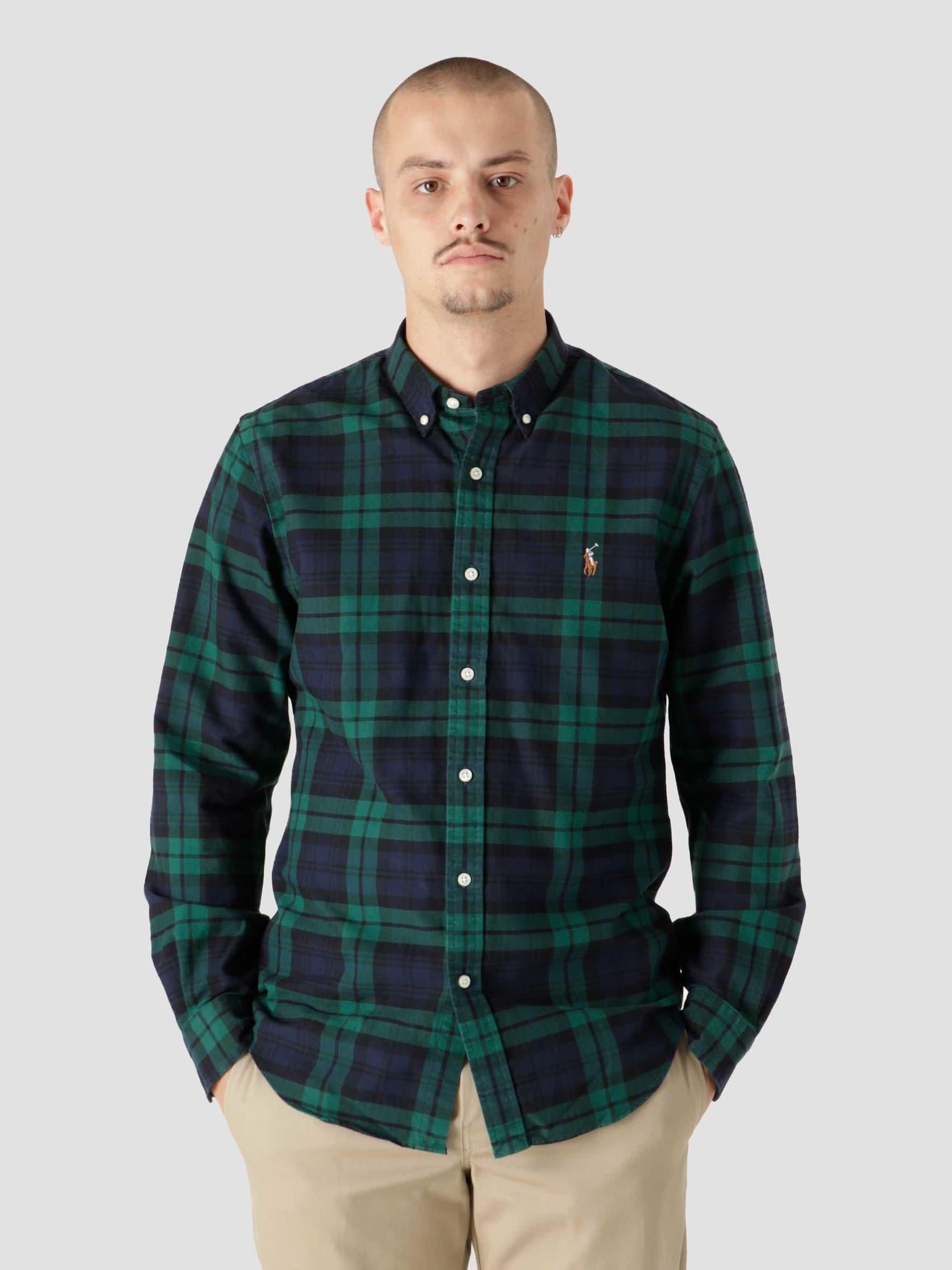 40-1 Yd Oxford Shirt 4904 Green Navy 710853154004