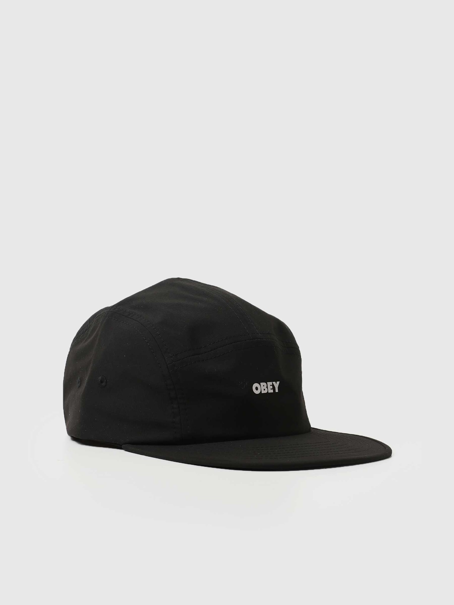 Bold Ripstop Camp Hat 5 Panel Hat (Or Camp) Black 100490075