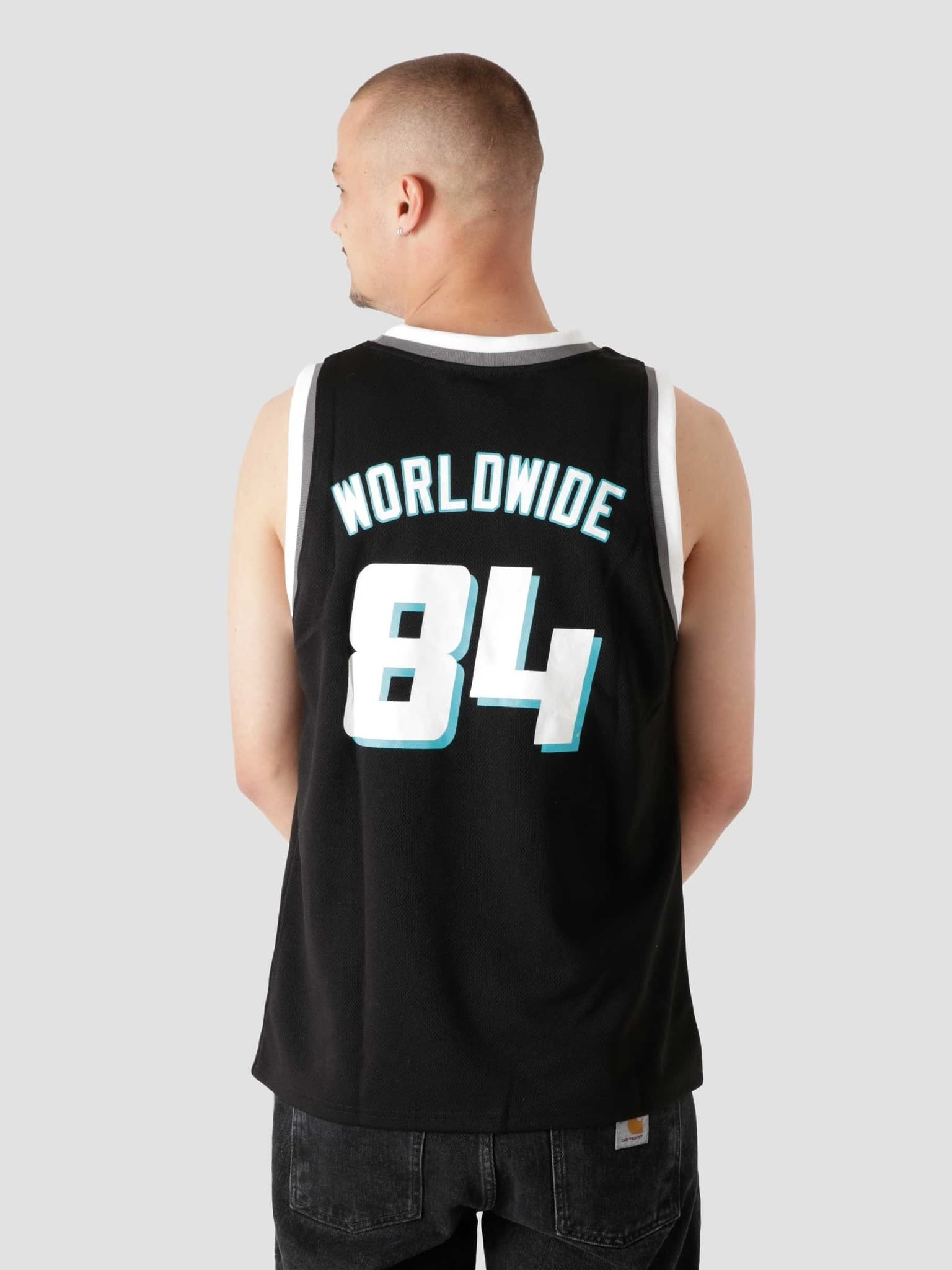 Rebound Basketball Jersey Black KN00293