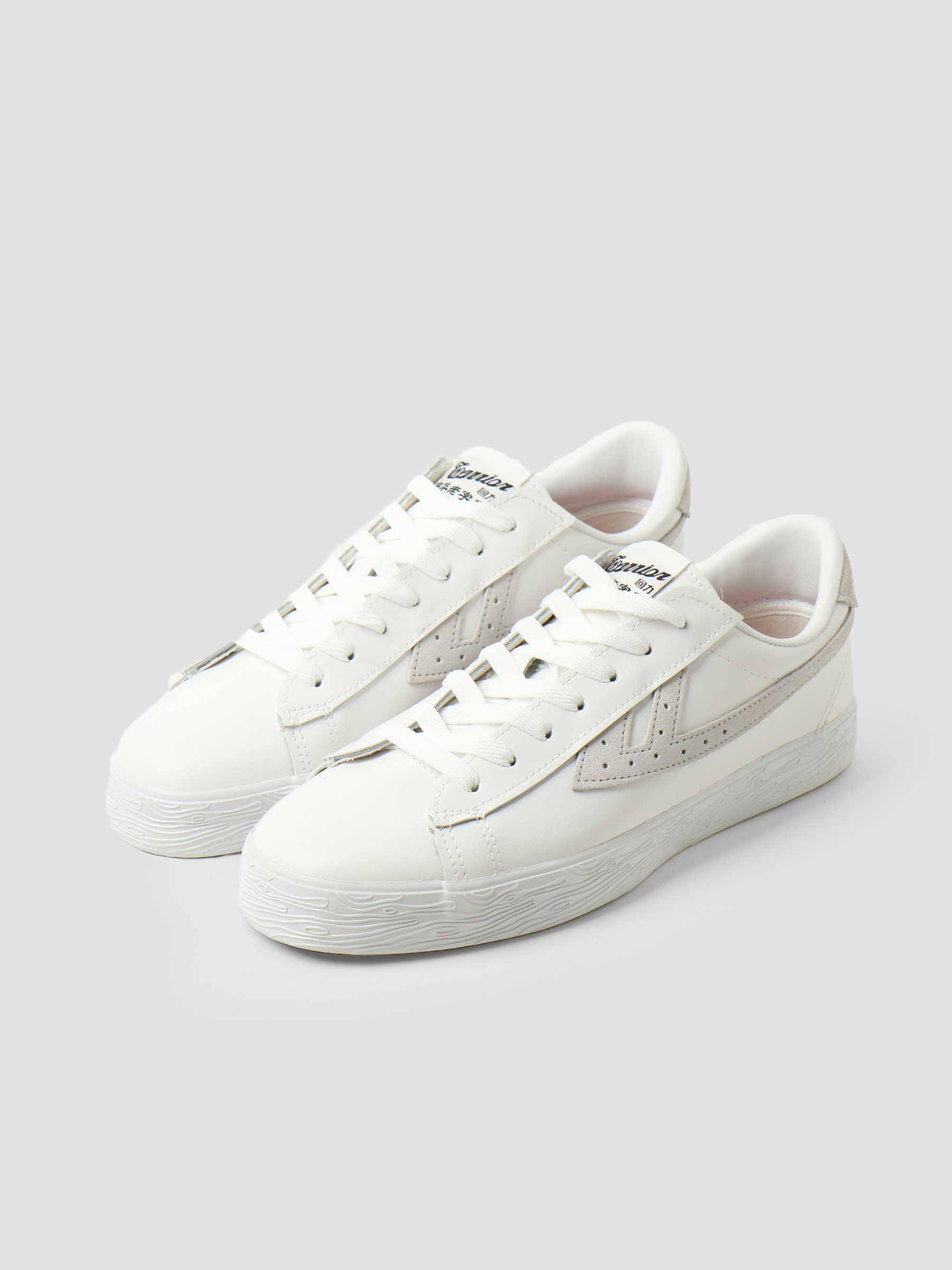 Dime Leather White Grey