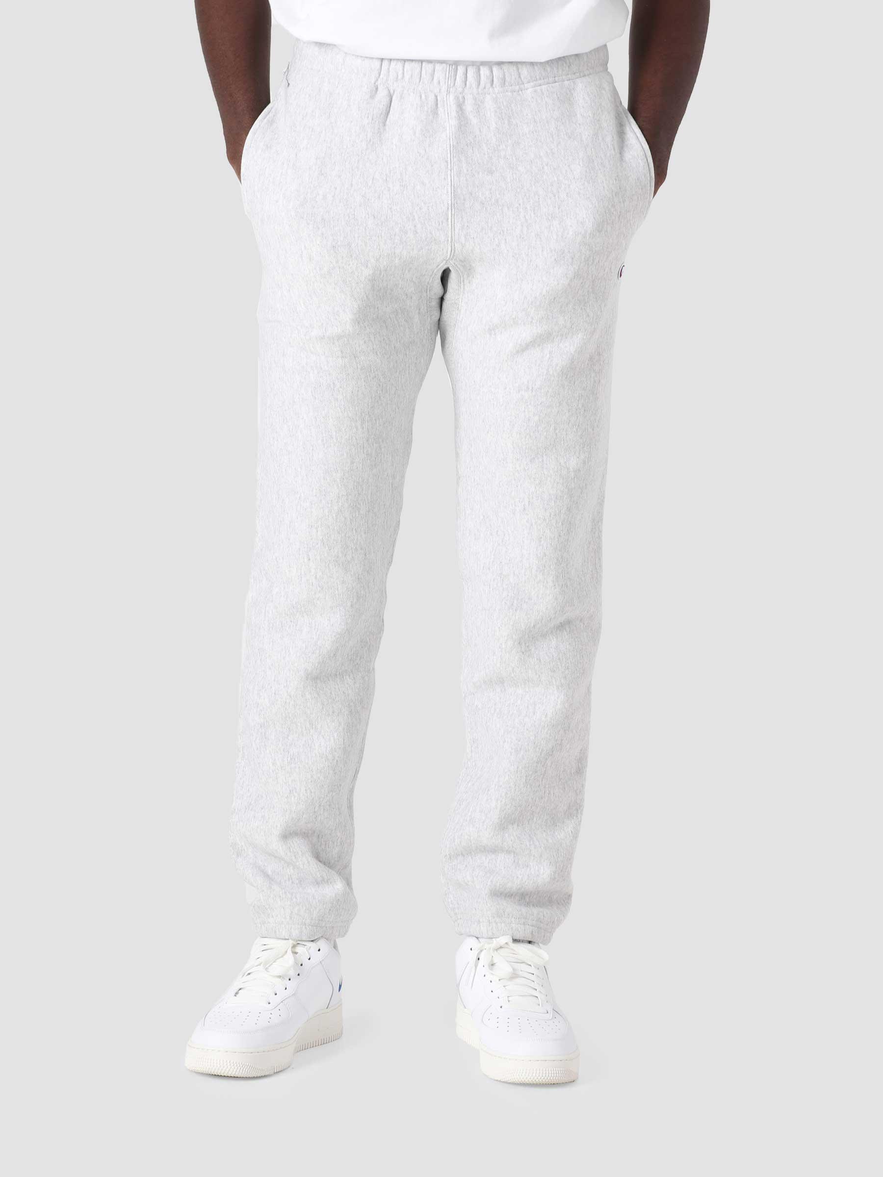 Reverse Weave Soft Fleece Elastic Cuff Pants Grey COKFQ7-EM004