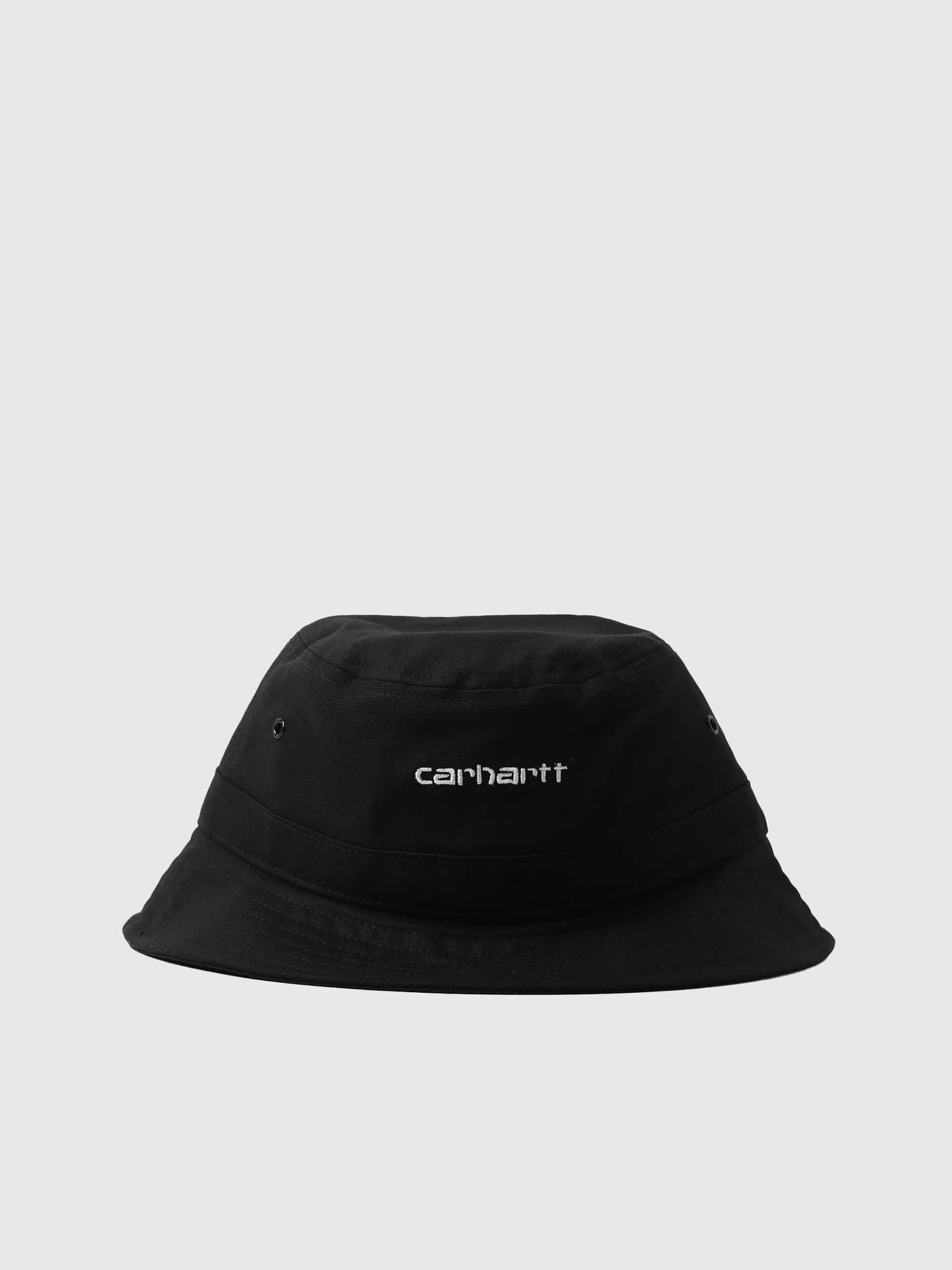 Script Bucket Hat Black White I029937