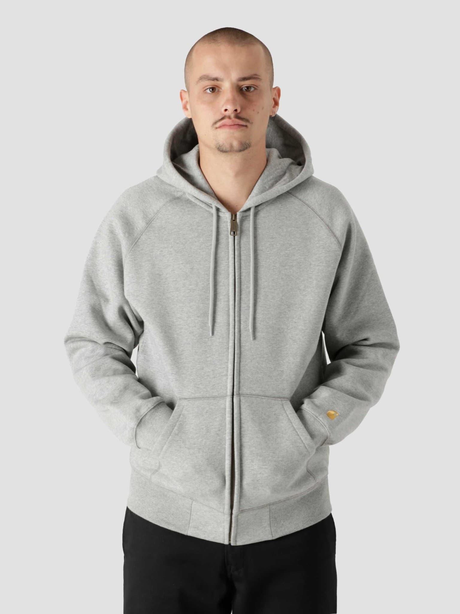 Hooded Chase Jacket Grey Heather Gold I026385