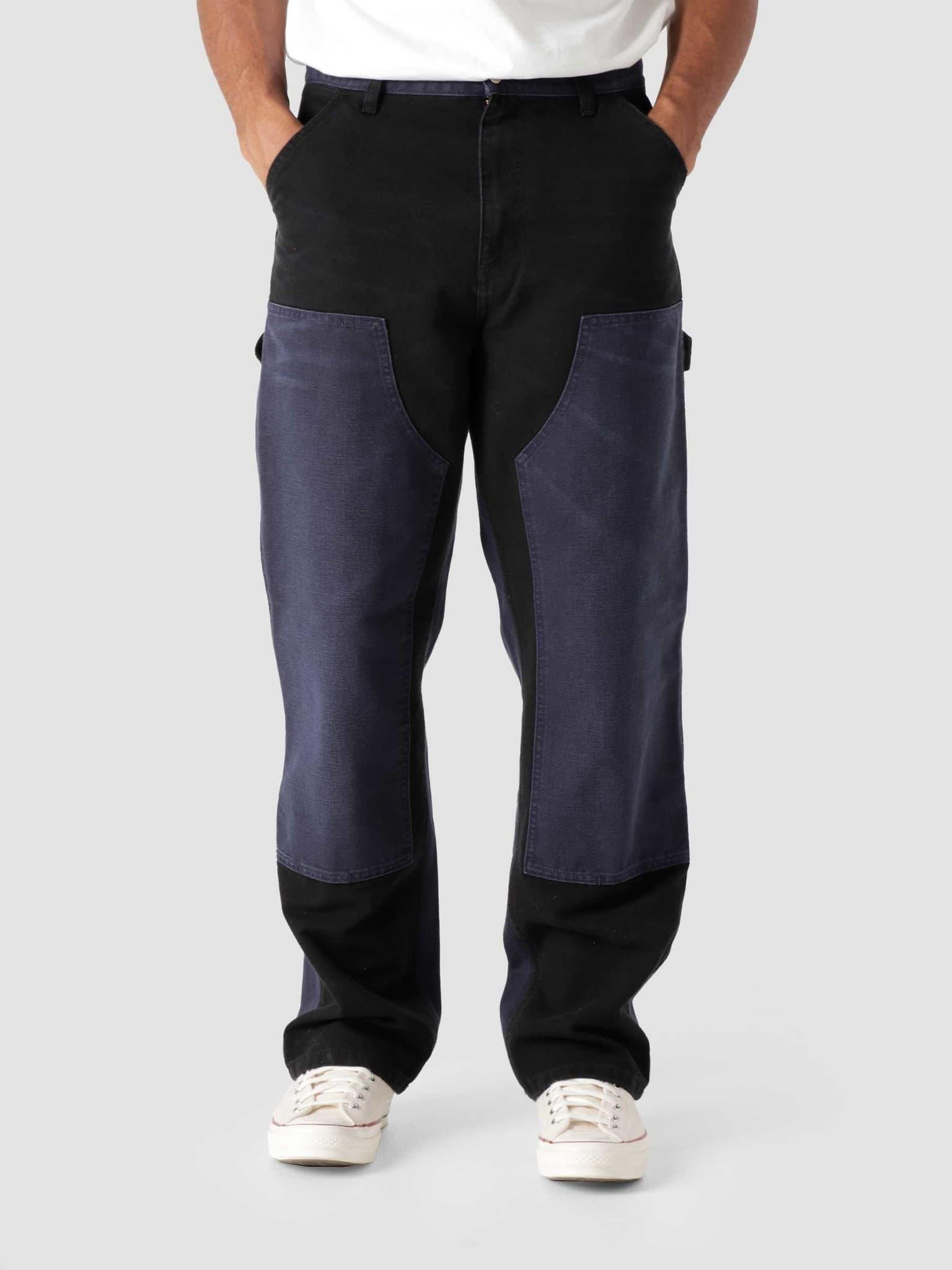 Double Knee Pant Black Dark Navy Aged Canvas I029780-0IE3K