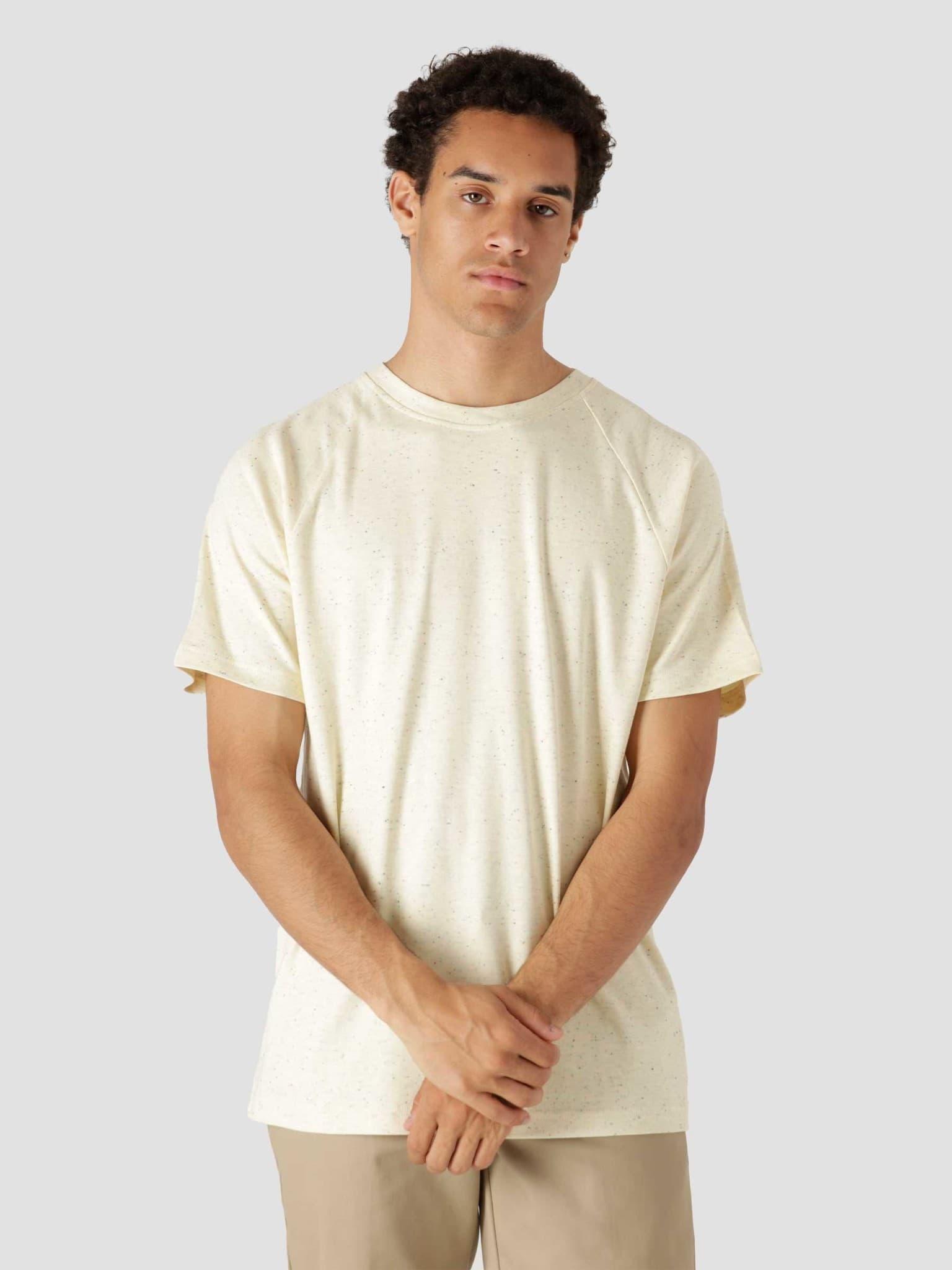 QB301 Speckle T-shirt Off White