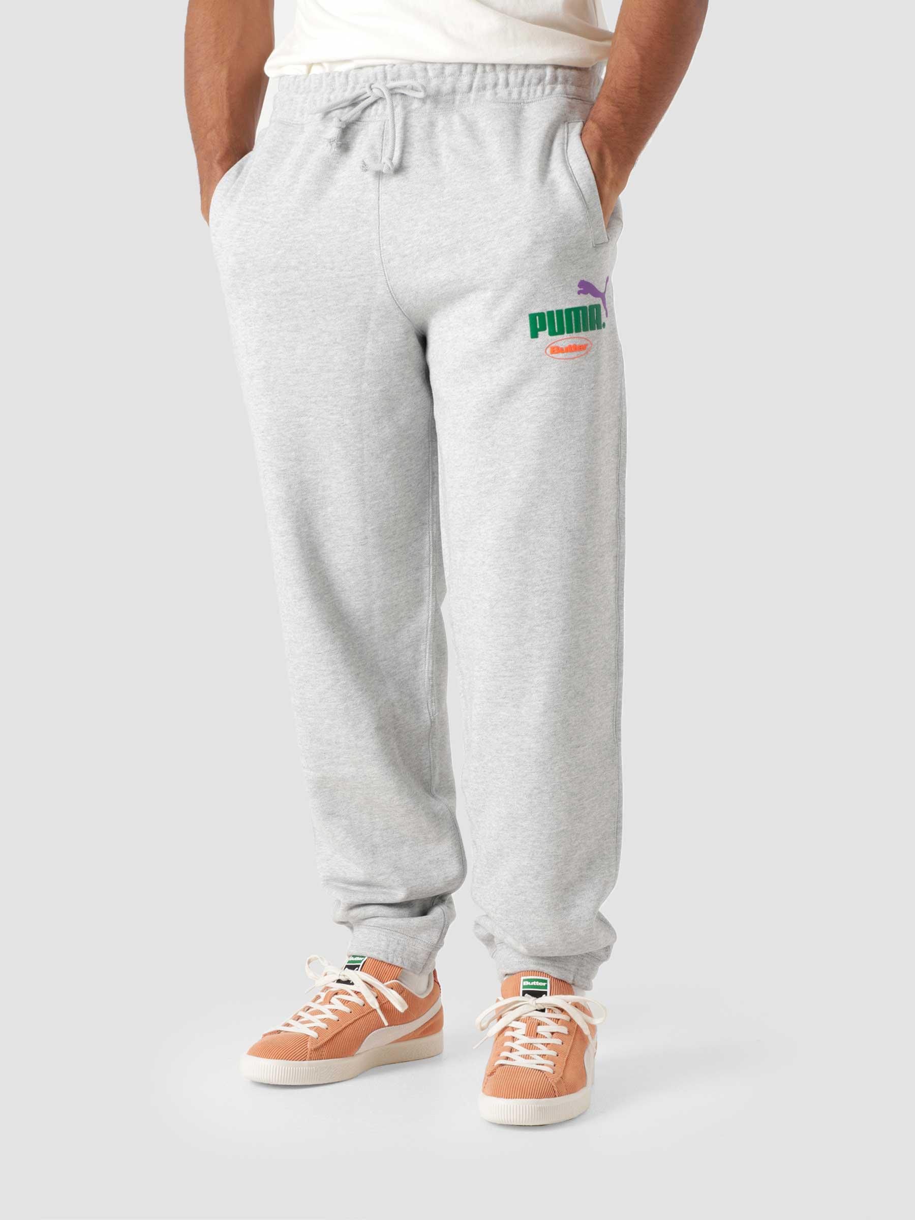 Puma X Butter Goods Sweatpants Light Gray Heather 53244304