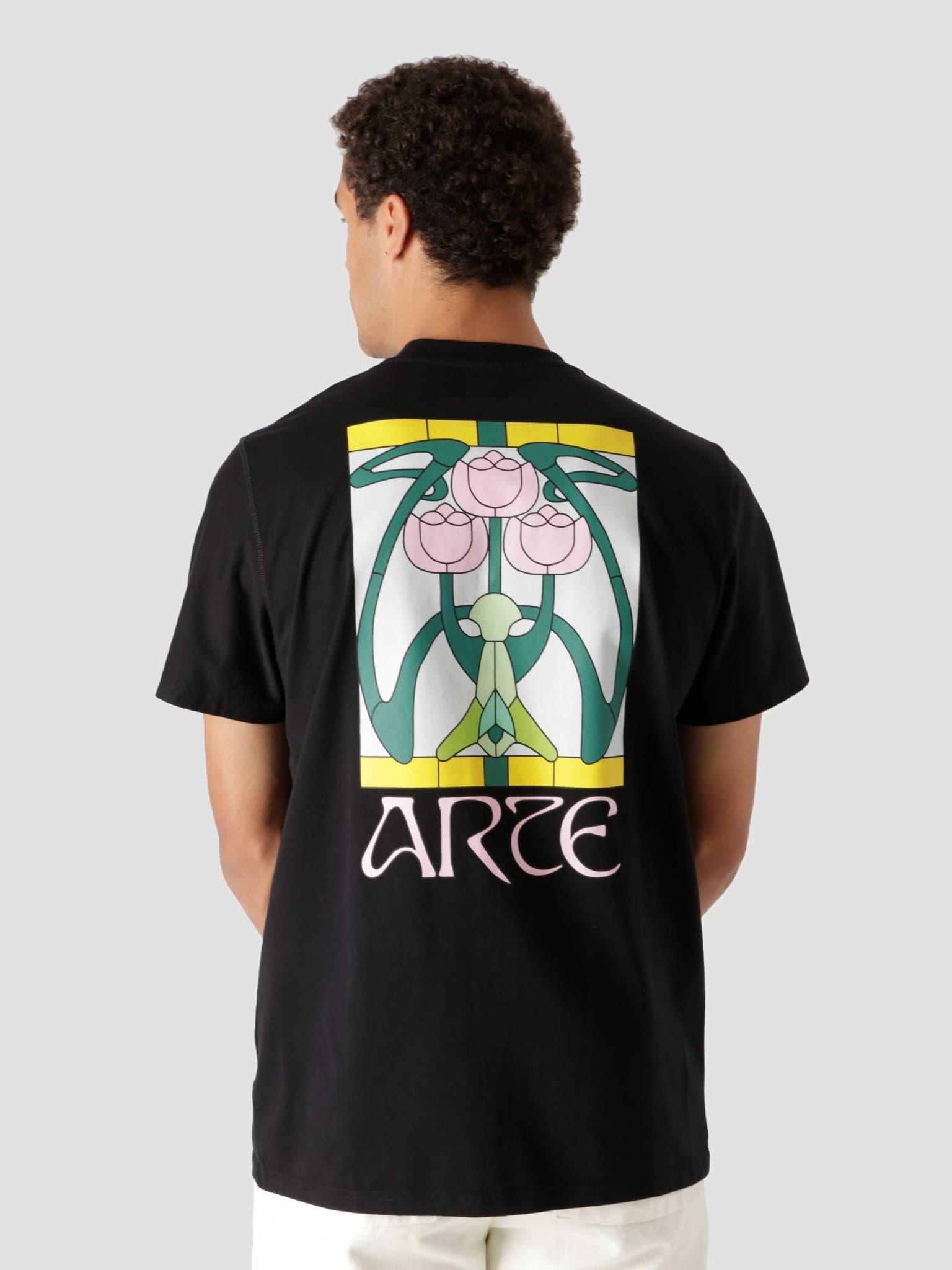 Tissot Back Roses T-Shirt Black AW21-058T