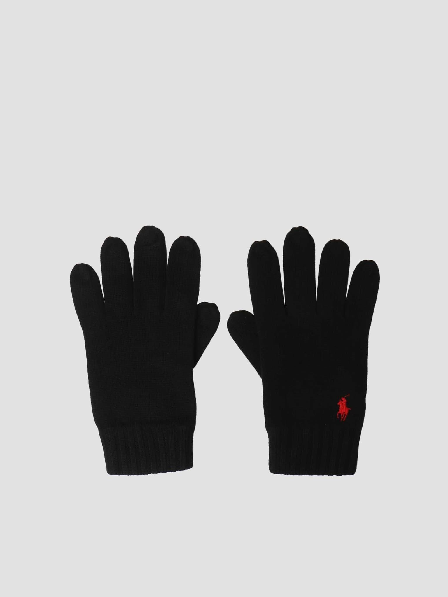 Merino Wool Glove Polo Black 710761416003