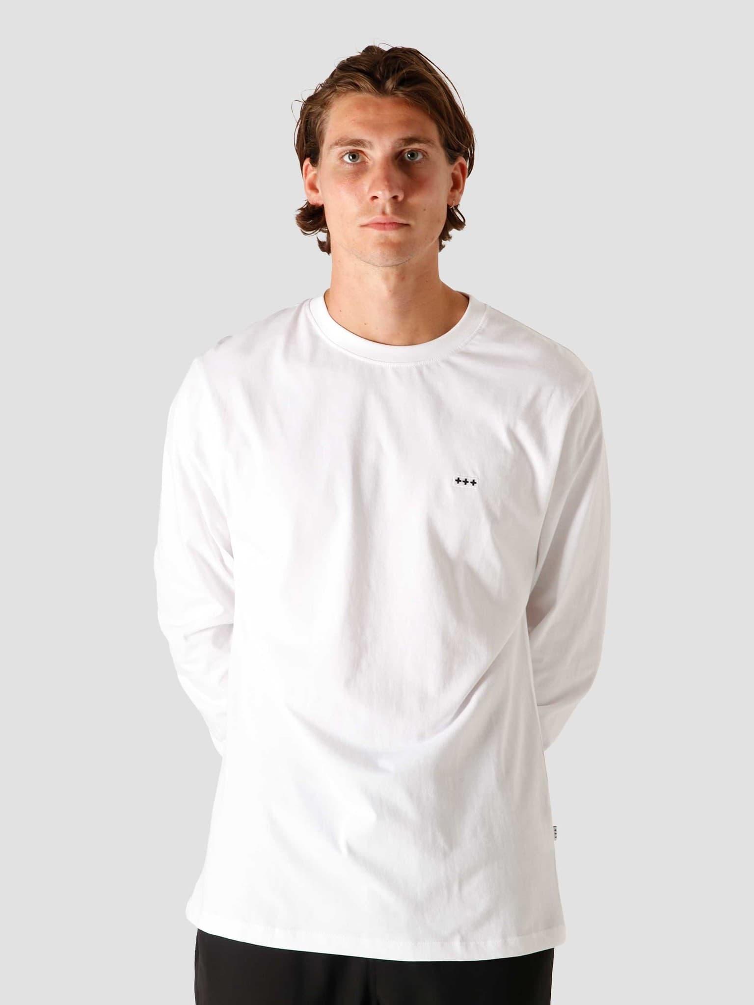 QB05 Patch Logo Longsleeve White