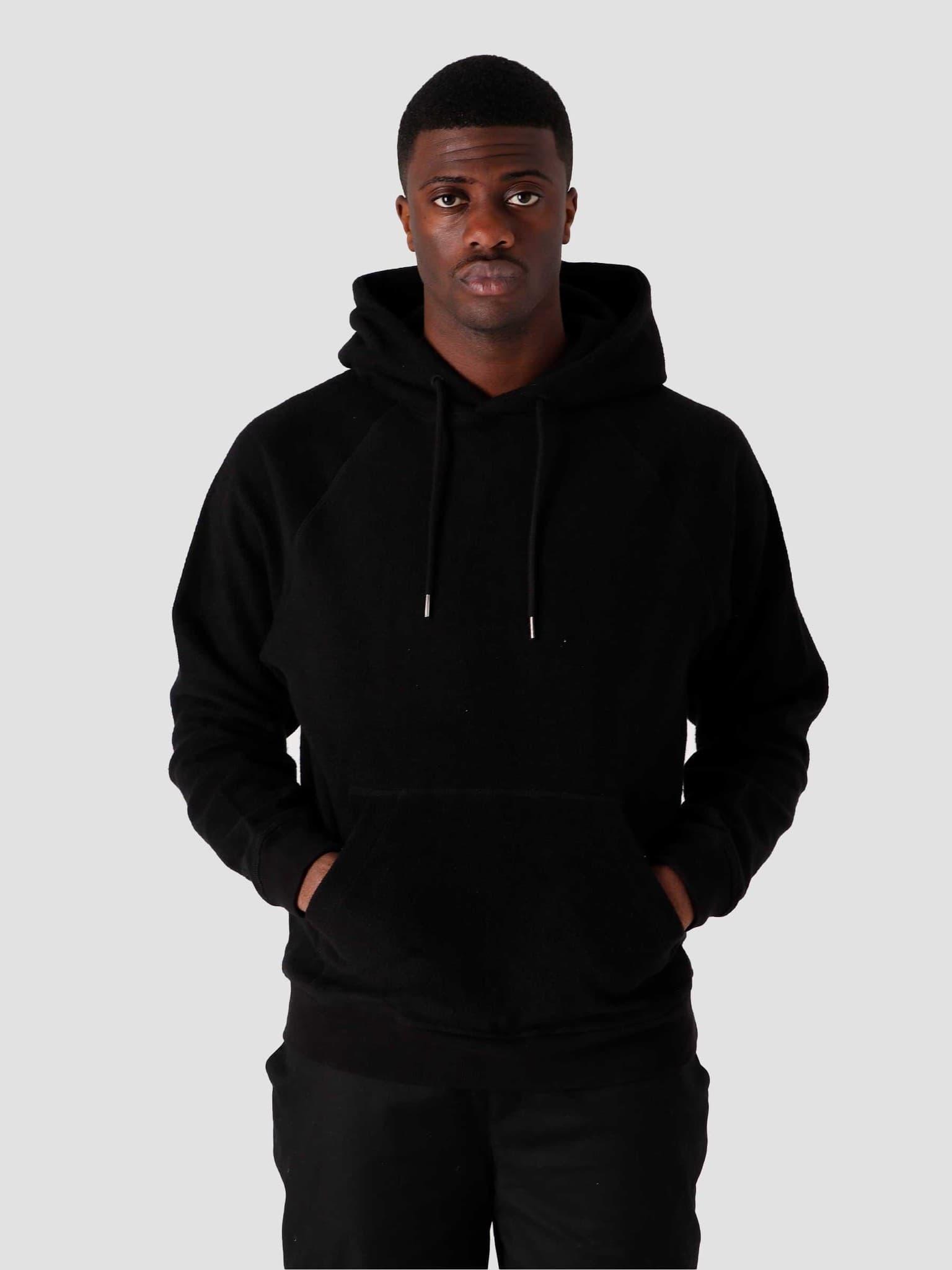 QB931 Cotton Fleece Hoodie Black