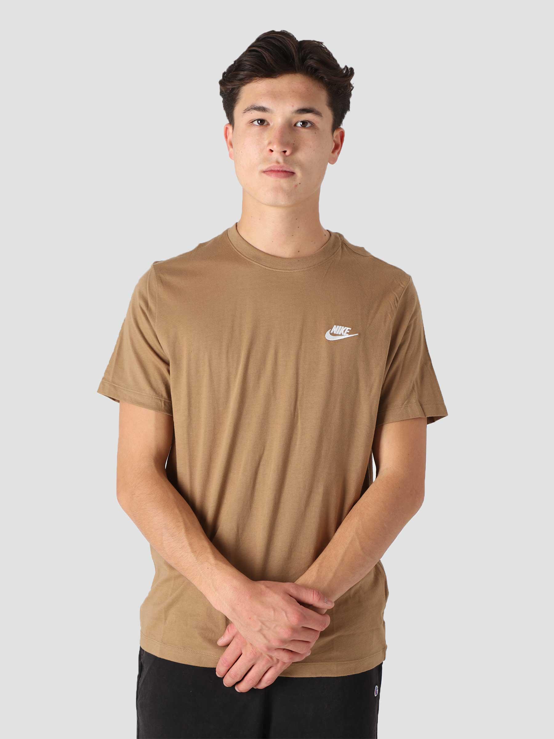 M Nsw Club T Shirt Dk Driftwood White AR4997-258
