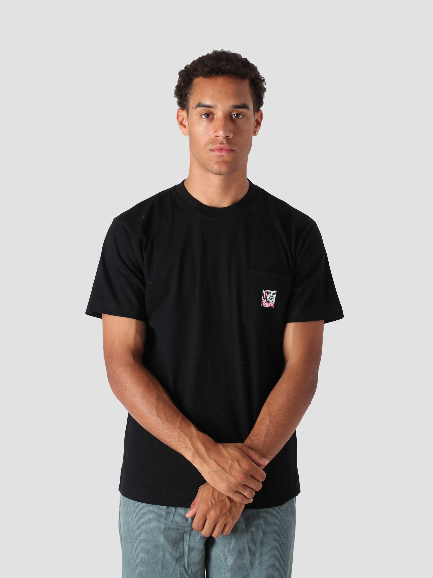 Point Organic Pocket T-Shirt Ss S/S Knit Black 131080287
