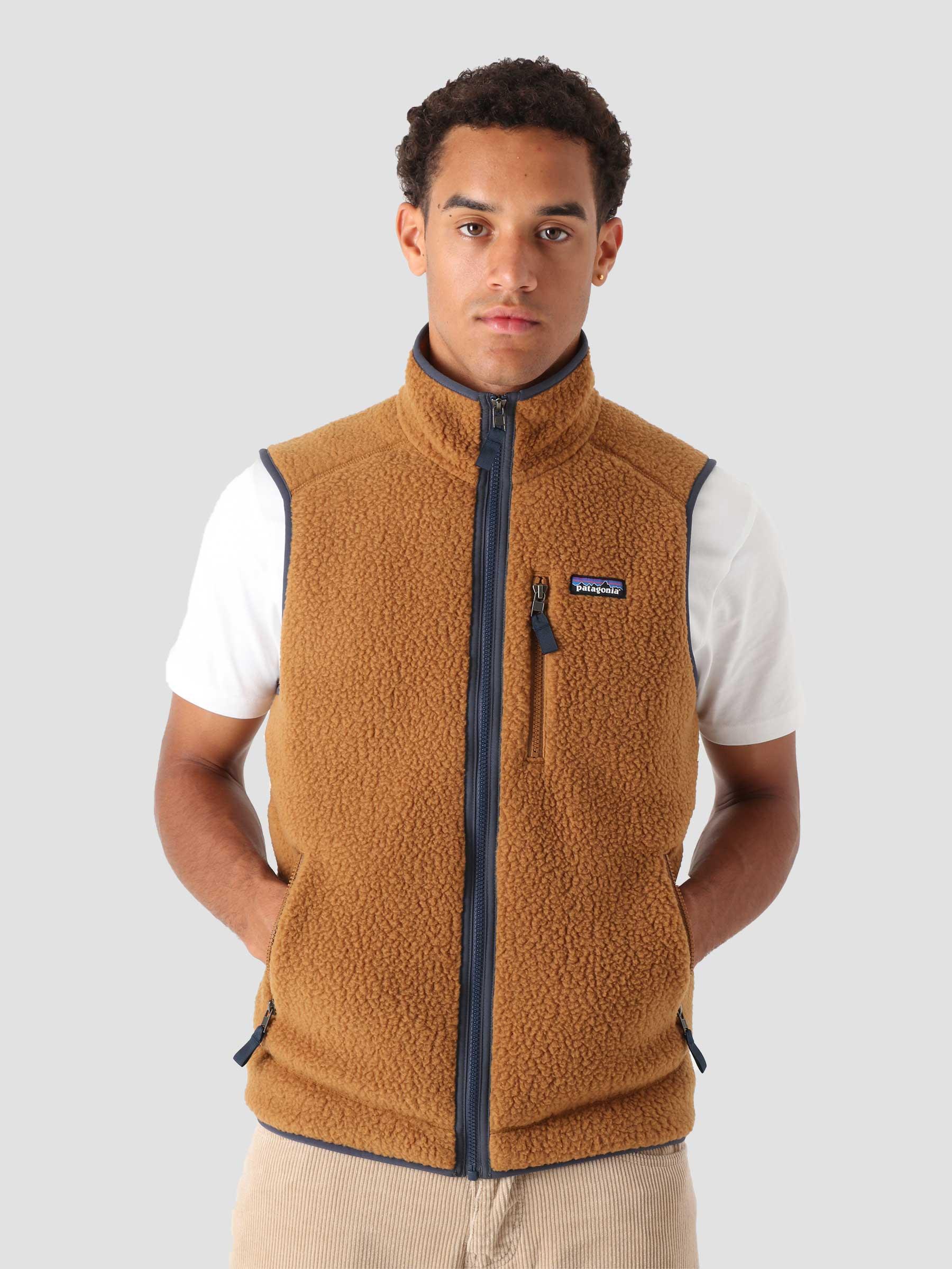 M's Retro Pile Vest Bear Brown 22821