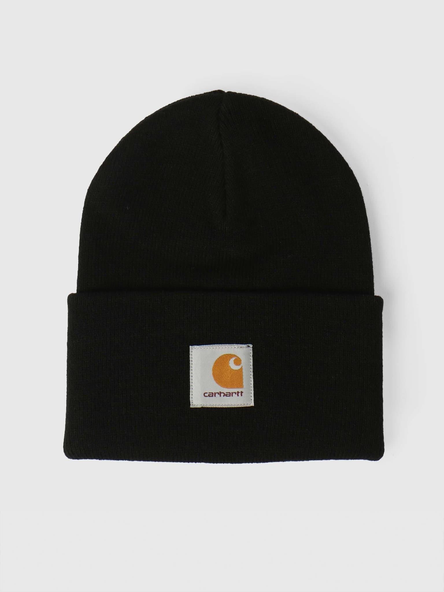 Acrylic Watch Hat Black I020222
