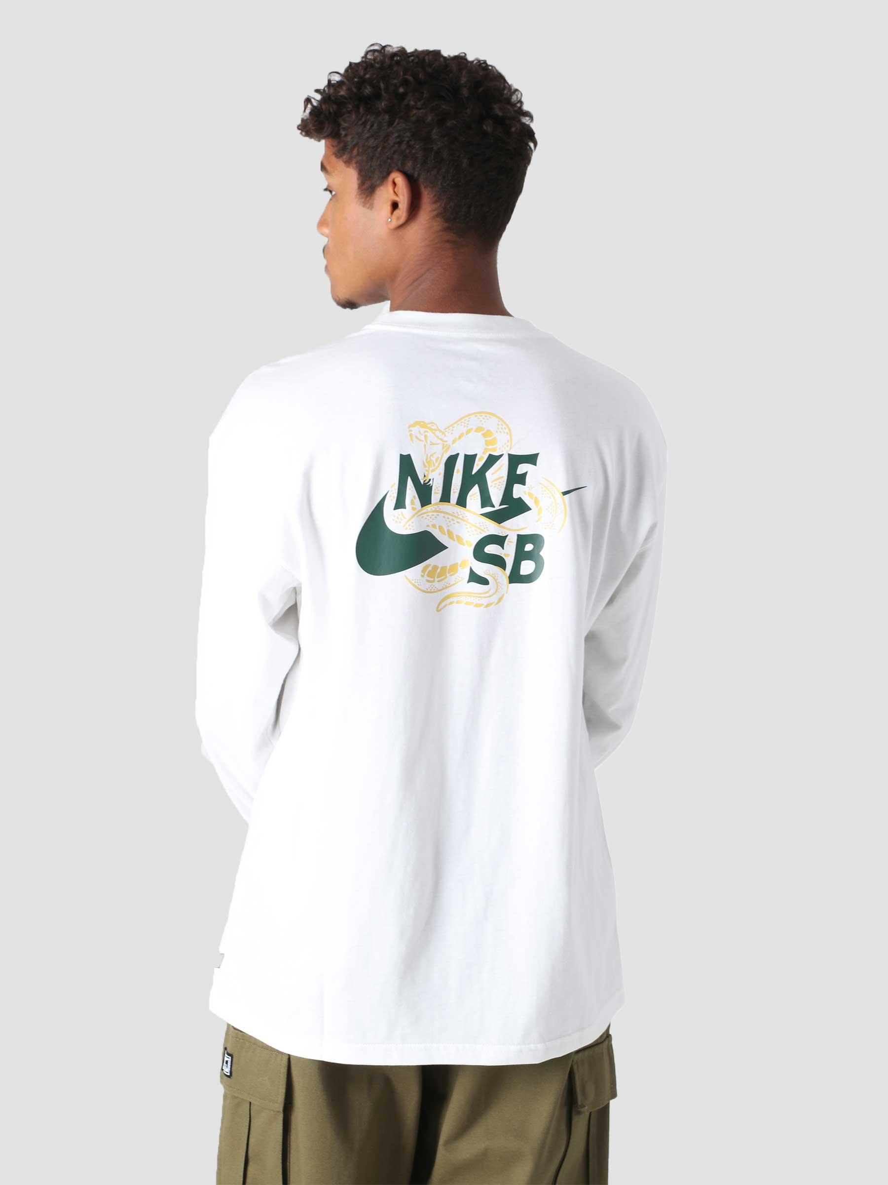 M Nk SB T-Shirt Snaked White DM2257-100