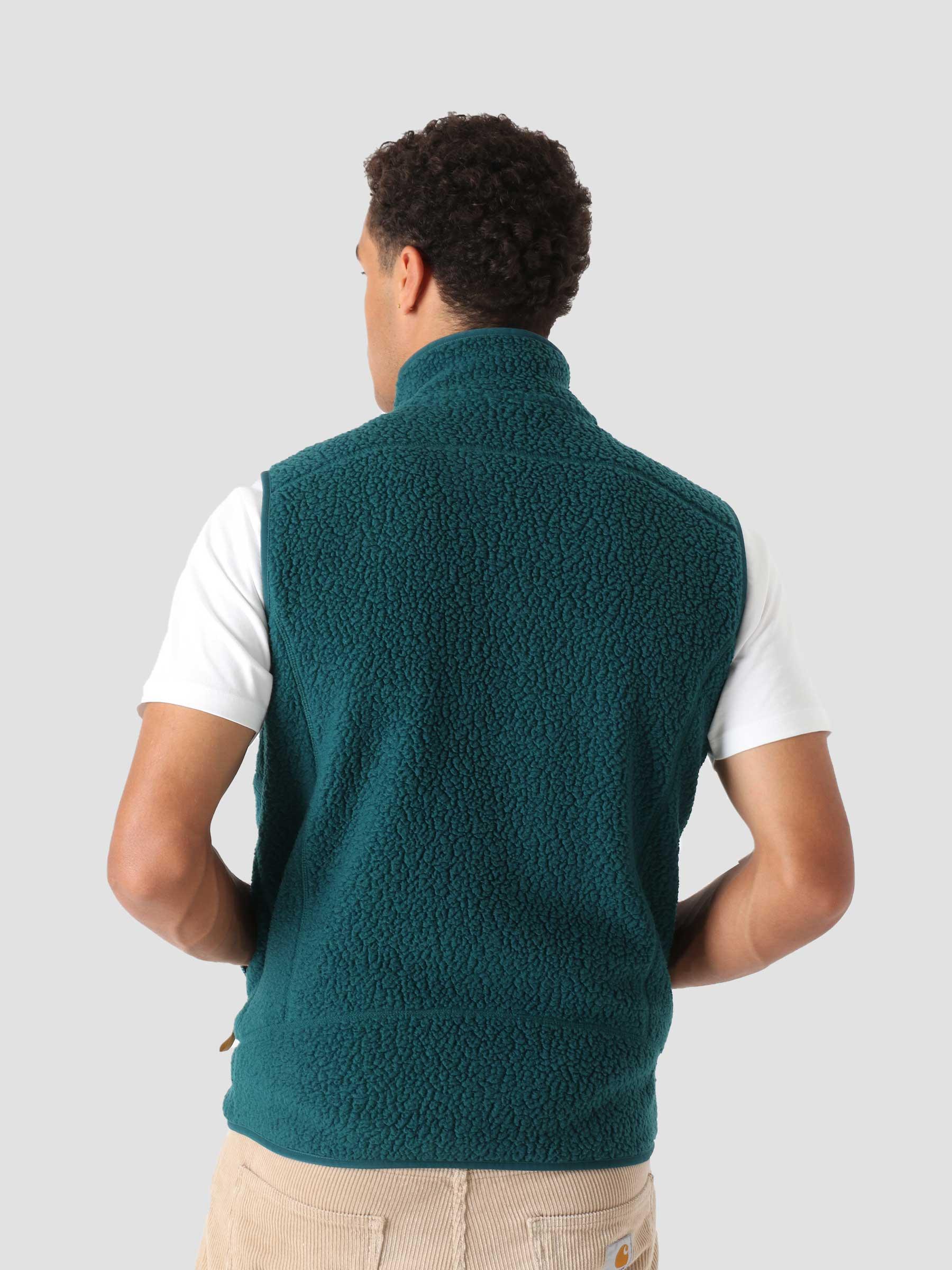 M's Retro Pile Vest Dark Borealis Green 22821