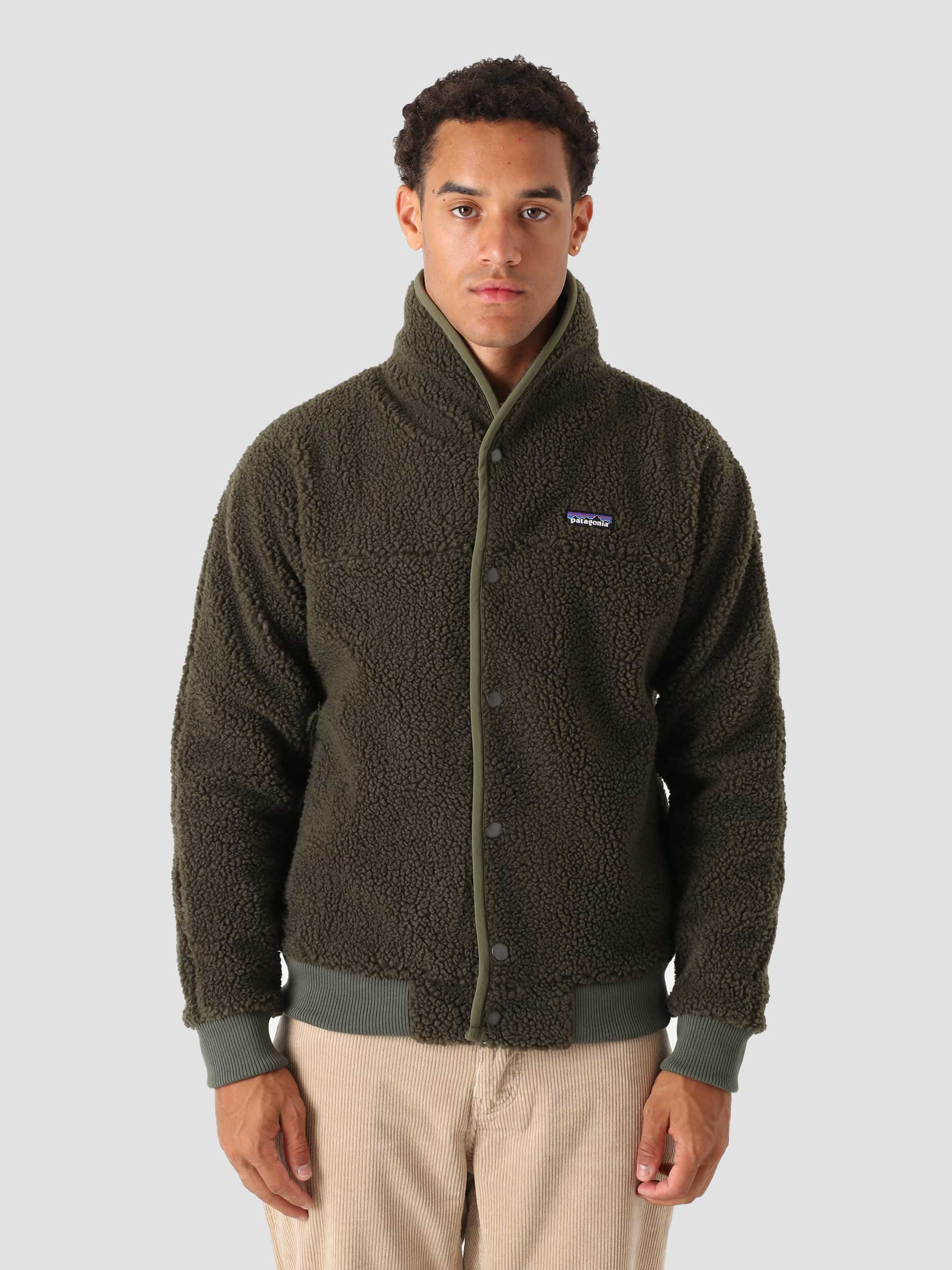 M's Snap Front Retro-X Jacket Basin Green 22860