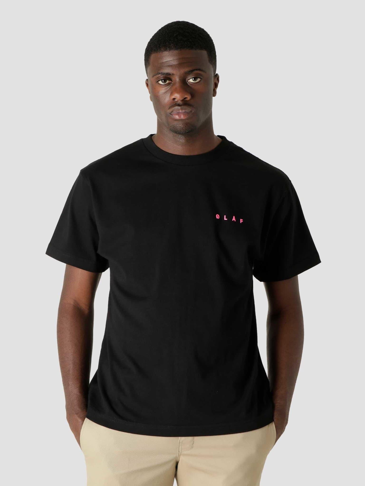 OLAF Face T-Shirt Black Pink