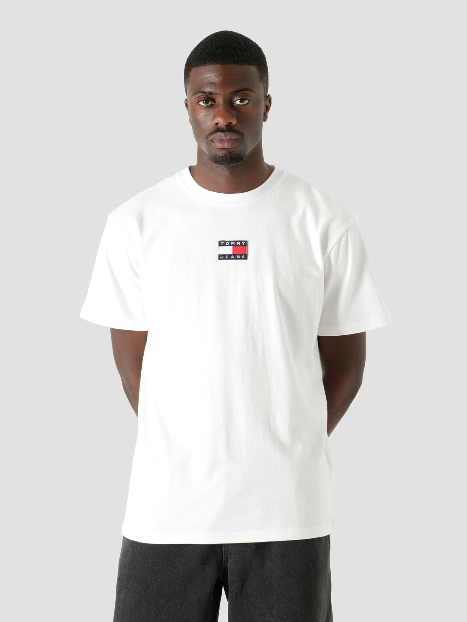 Tommy Badge T-Shirt White DM0DM10925-YBR