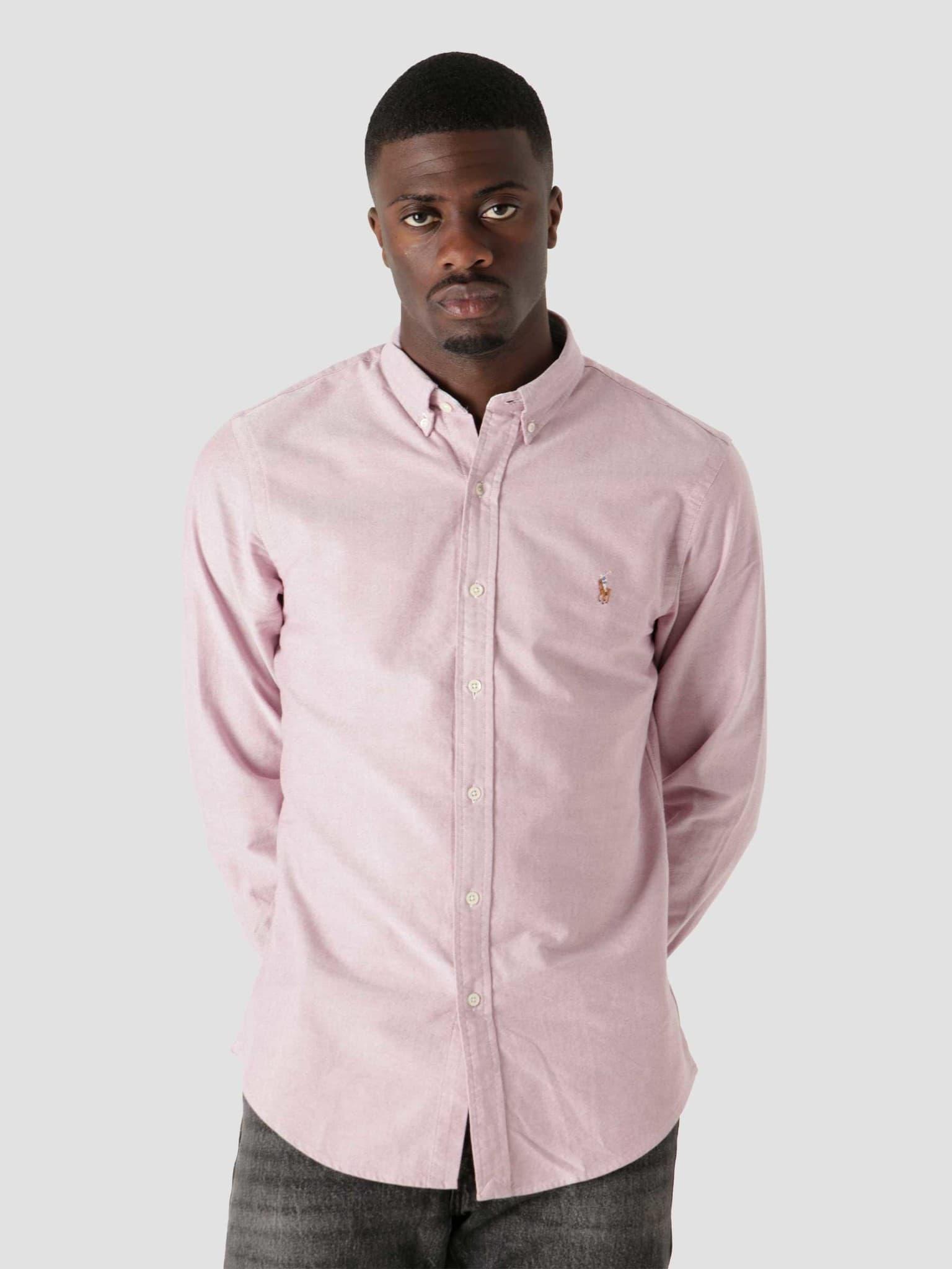 Classic Oxford Shirt 2535C Crimson White 710852660001