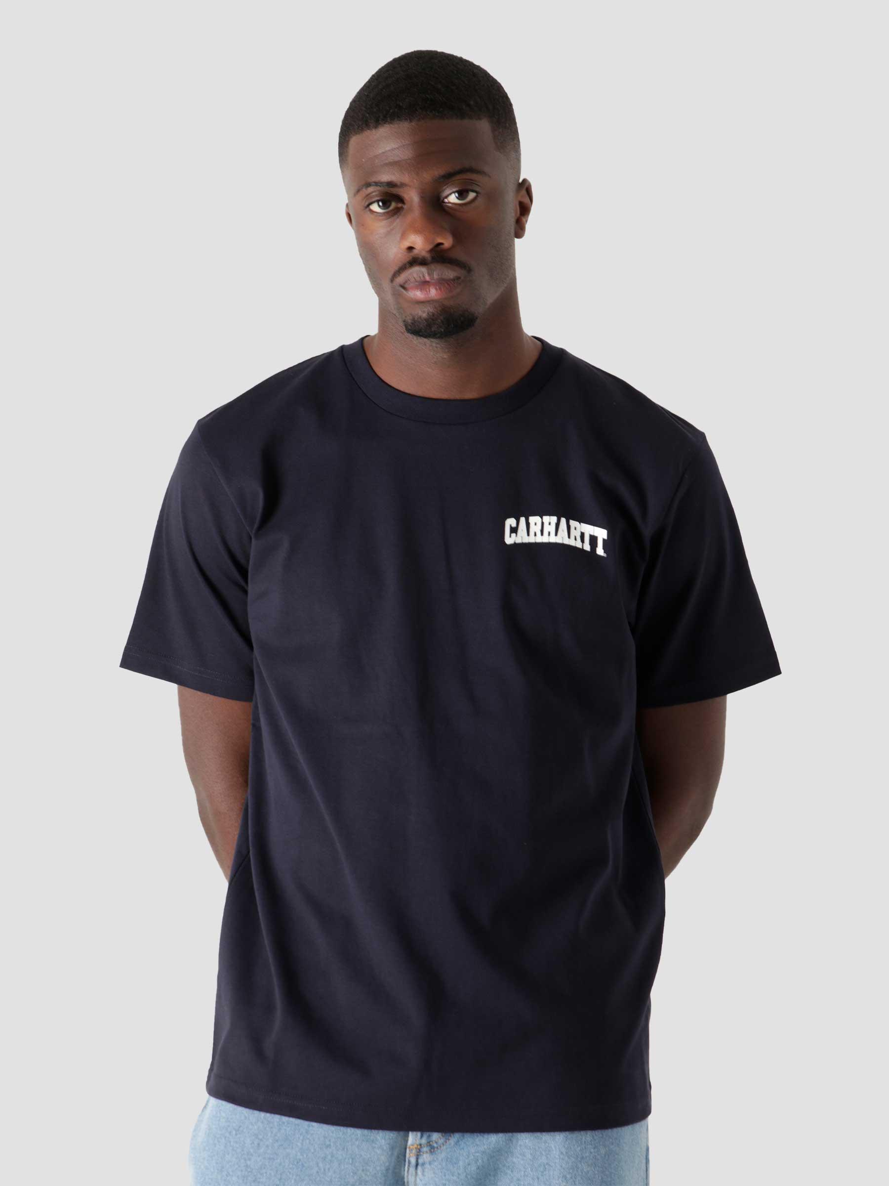 University Script T-Shirt Dark Navy White I028991