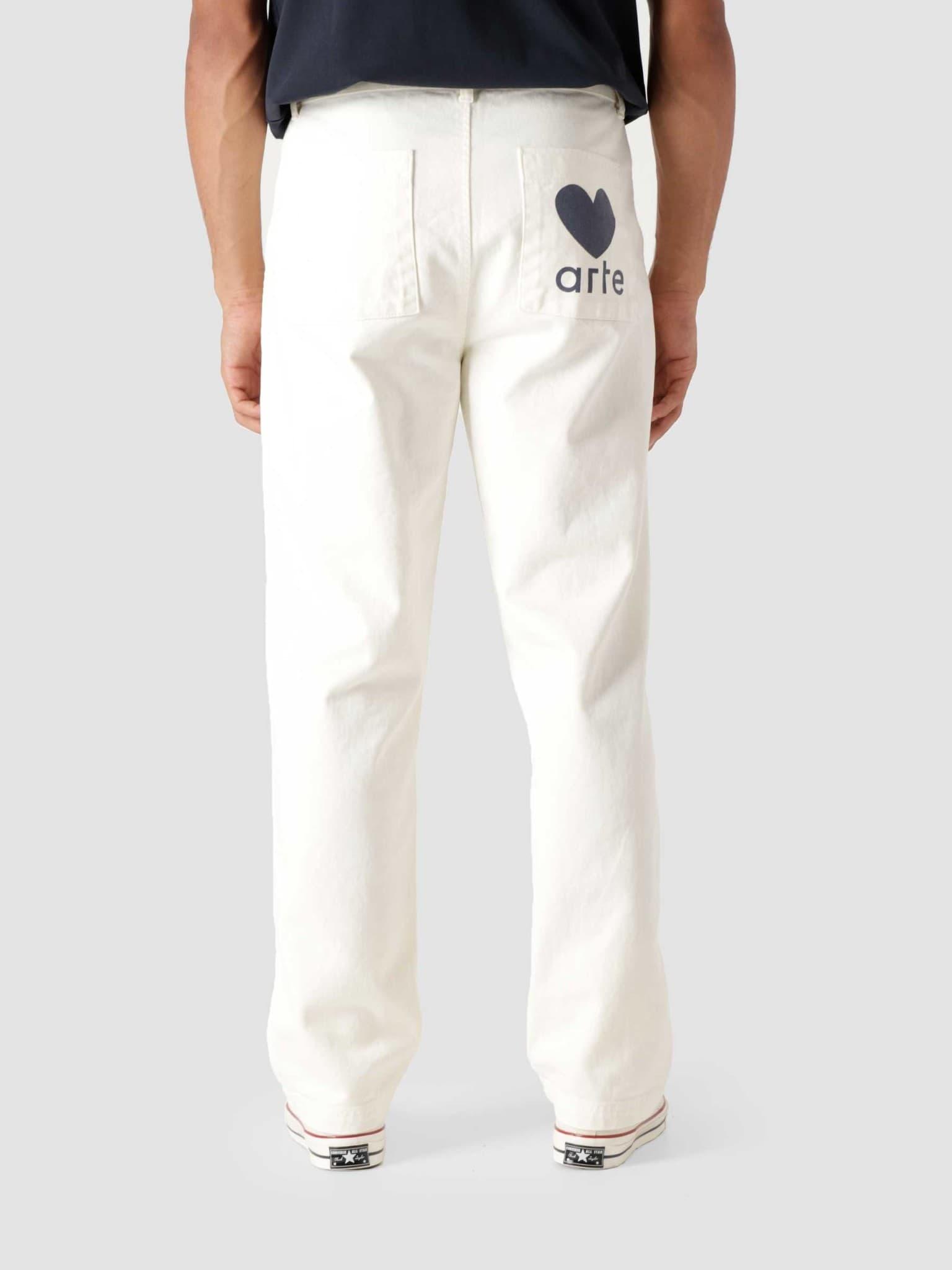 Polke Heart Pants Creme AW21-001P