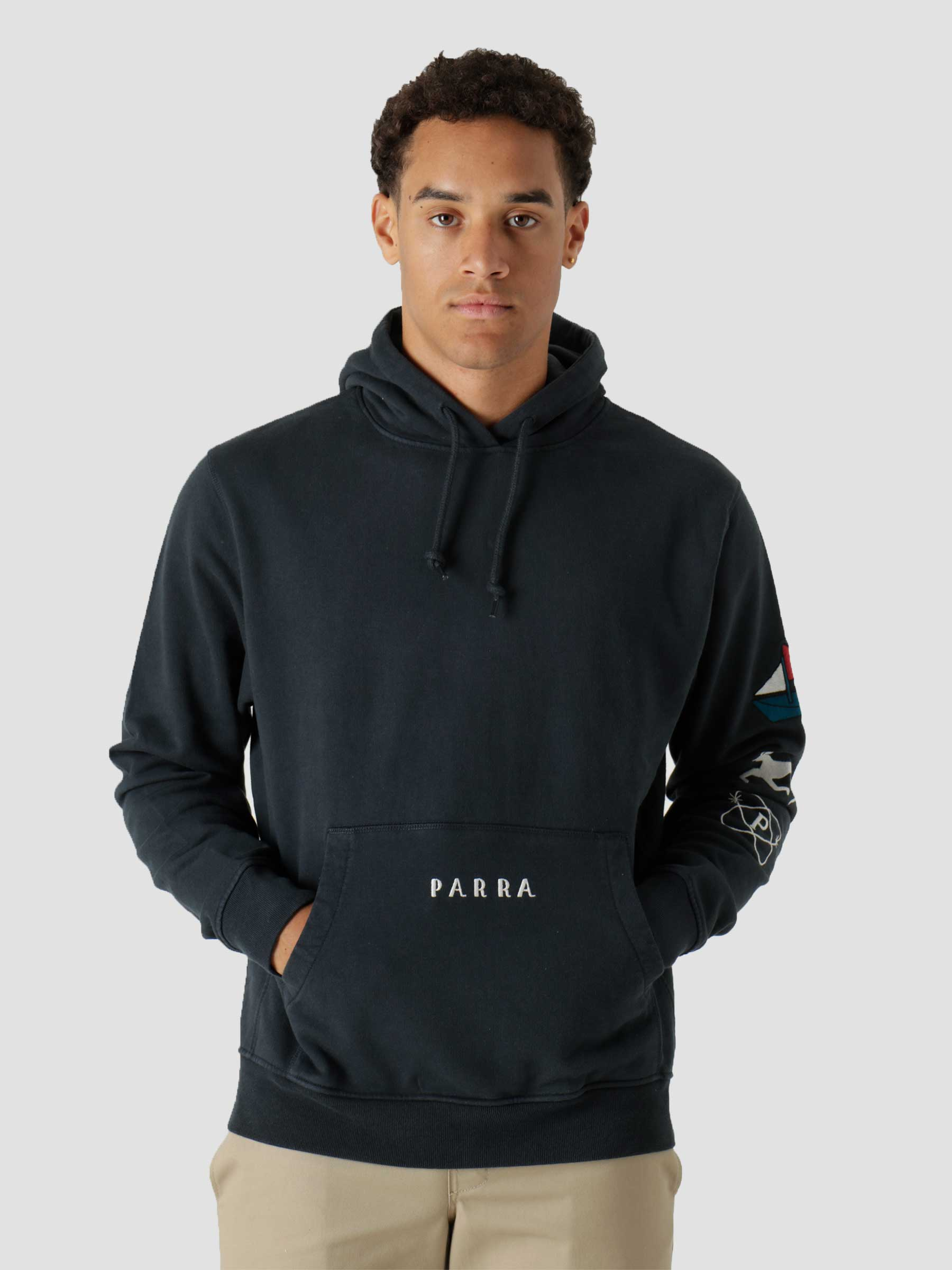 Paper Dog Systems Hooded Sweatshirt Navy Blue 46235