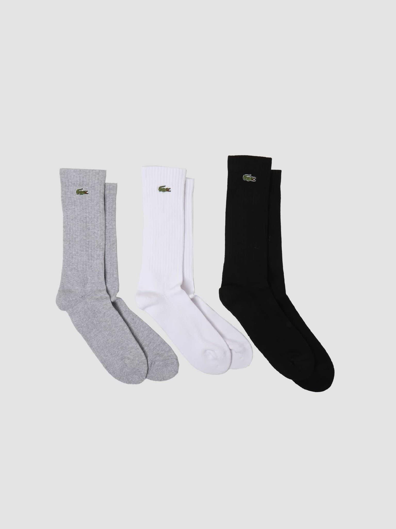 2G1C Socks 11 Silver Chine White Black RA2099-11