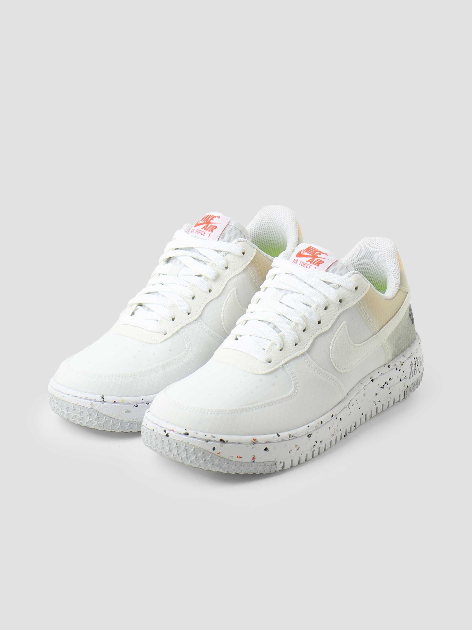 Nike Air Force 1 Crater White White Orange DH2521-100