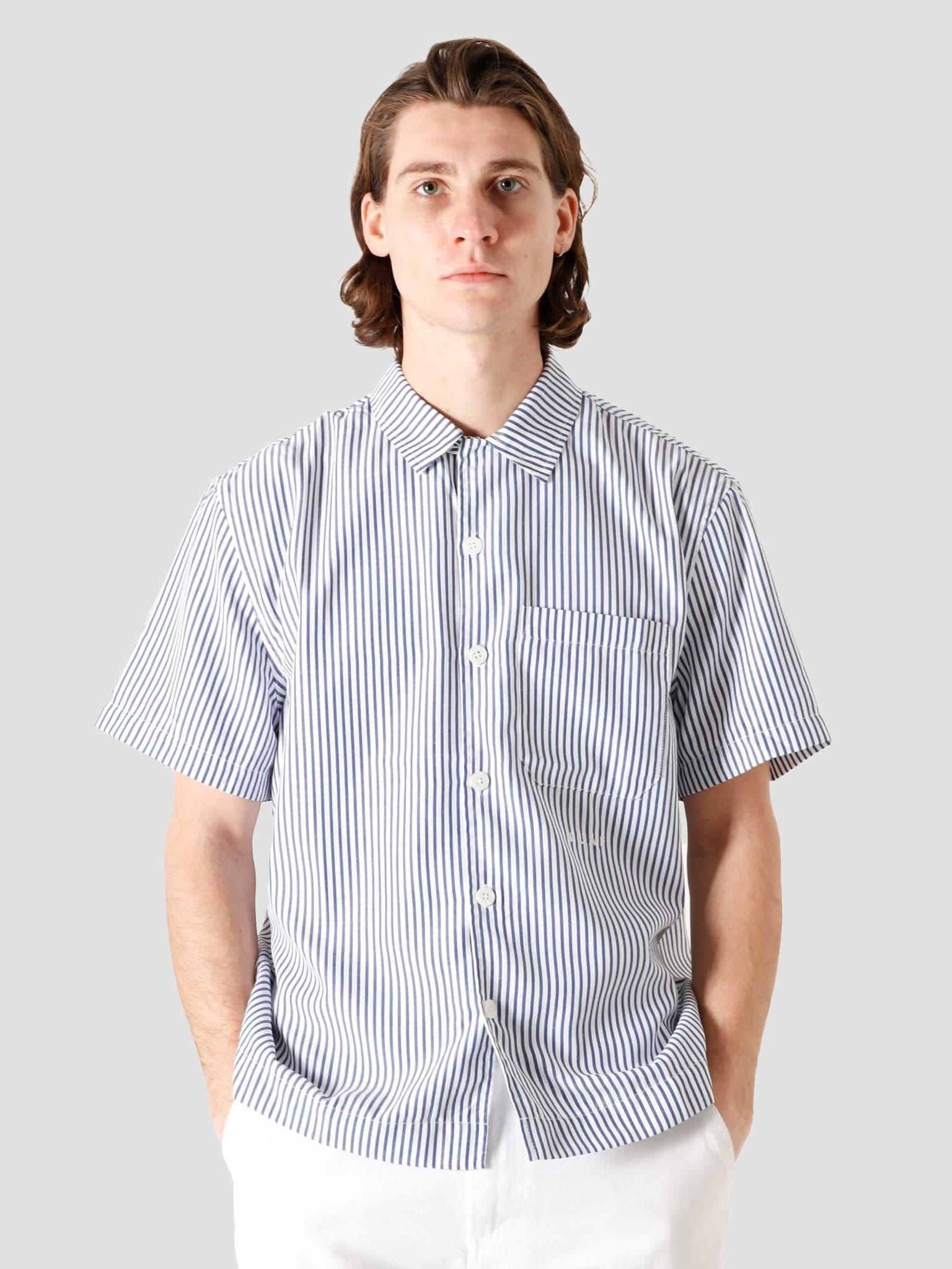 OH Stripe Shirt Navy White