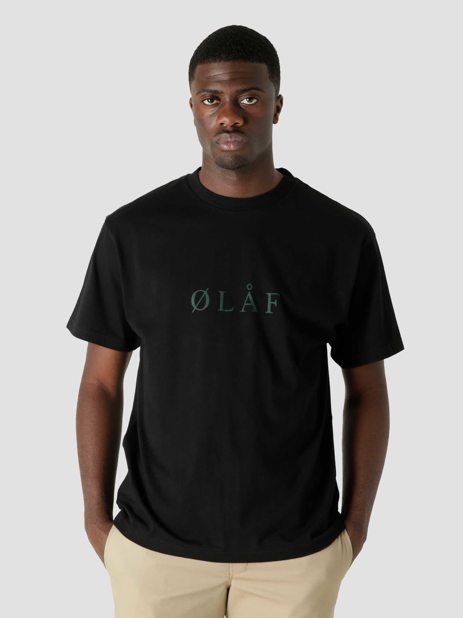 OLAF Serif T-Shirt Black