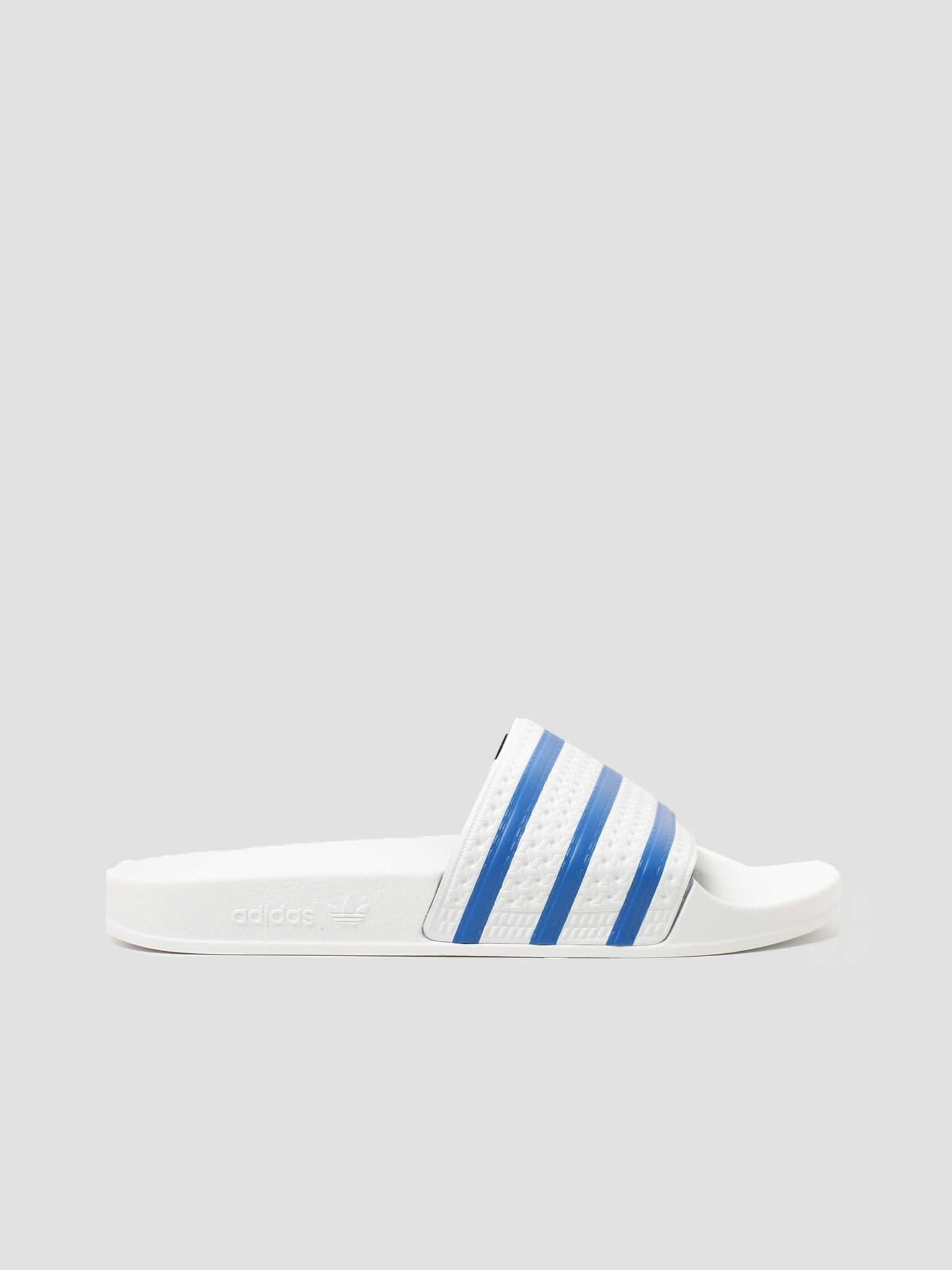 Adilette Footwear White Blue FX5860