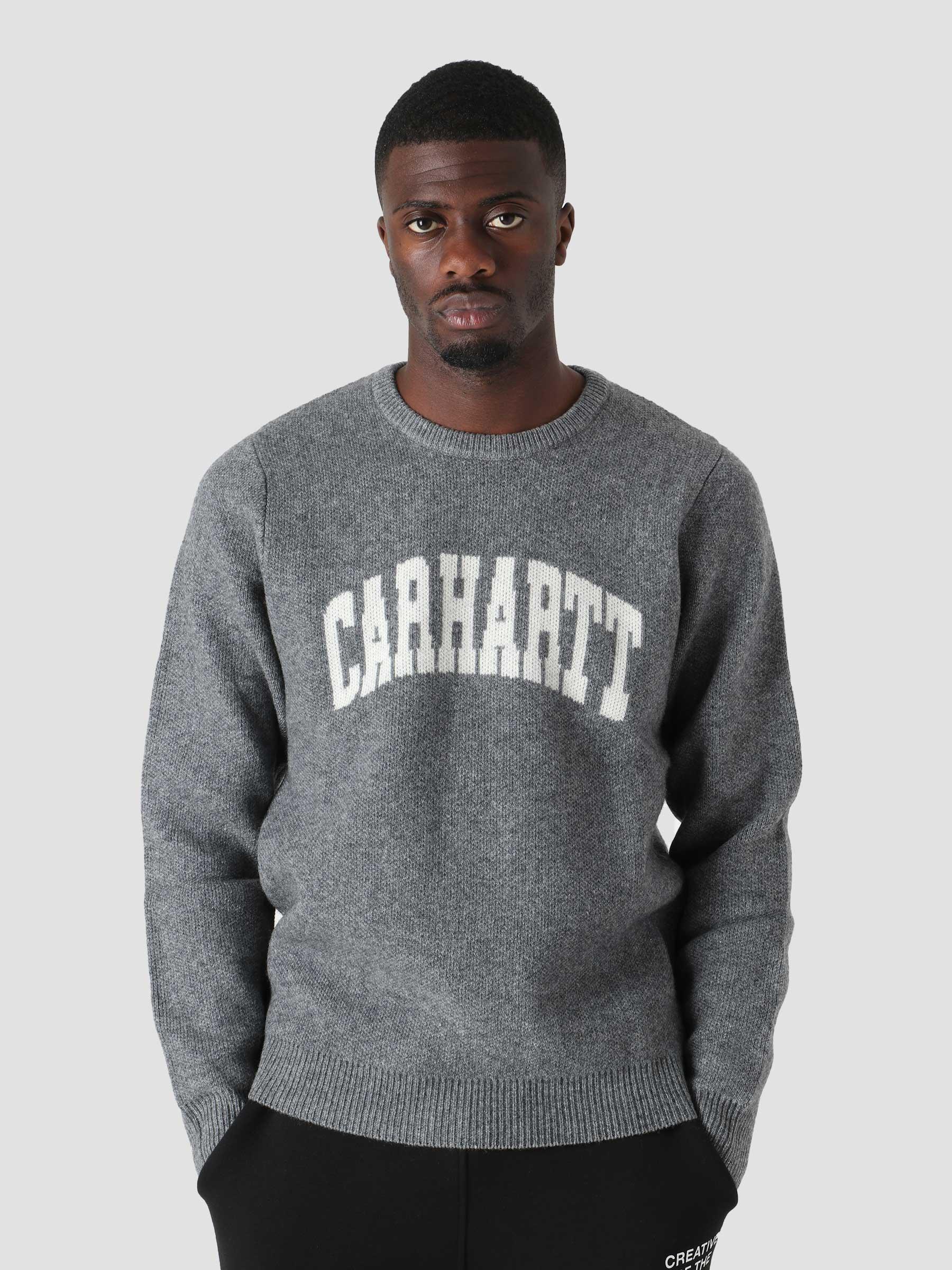 University Script Sweater Dark Grey Heather Wax I029515