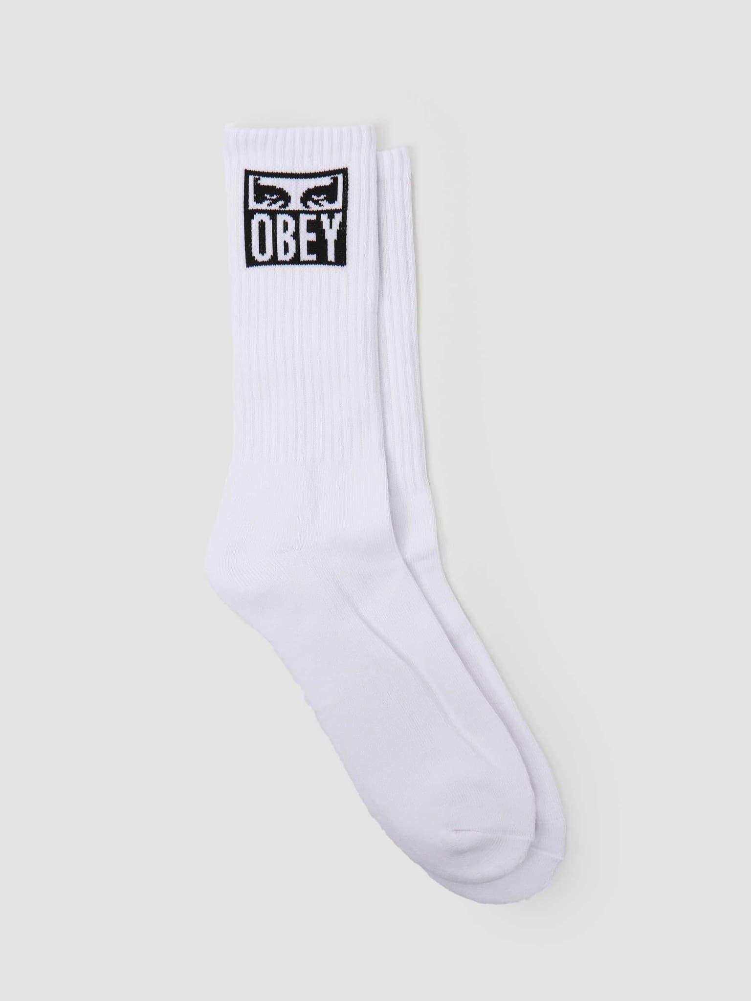 Obey eyes icon socks White 100260141 WHT