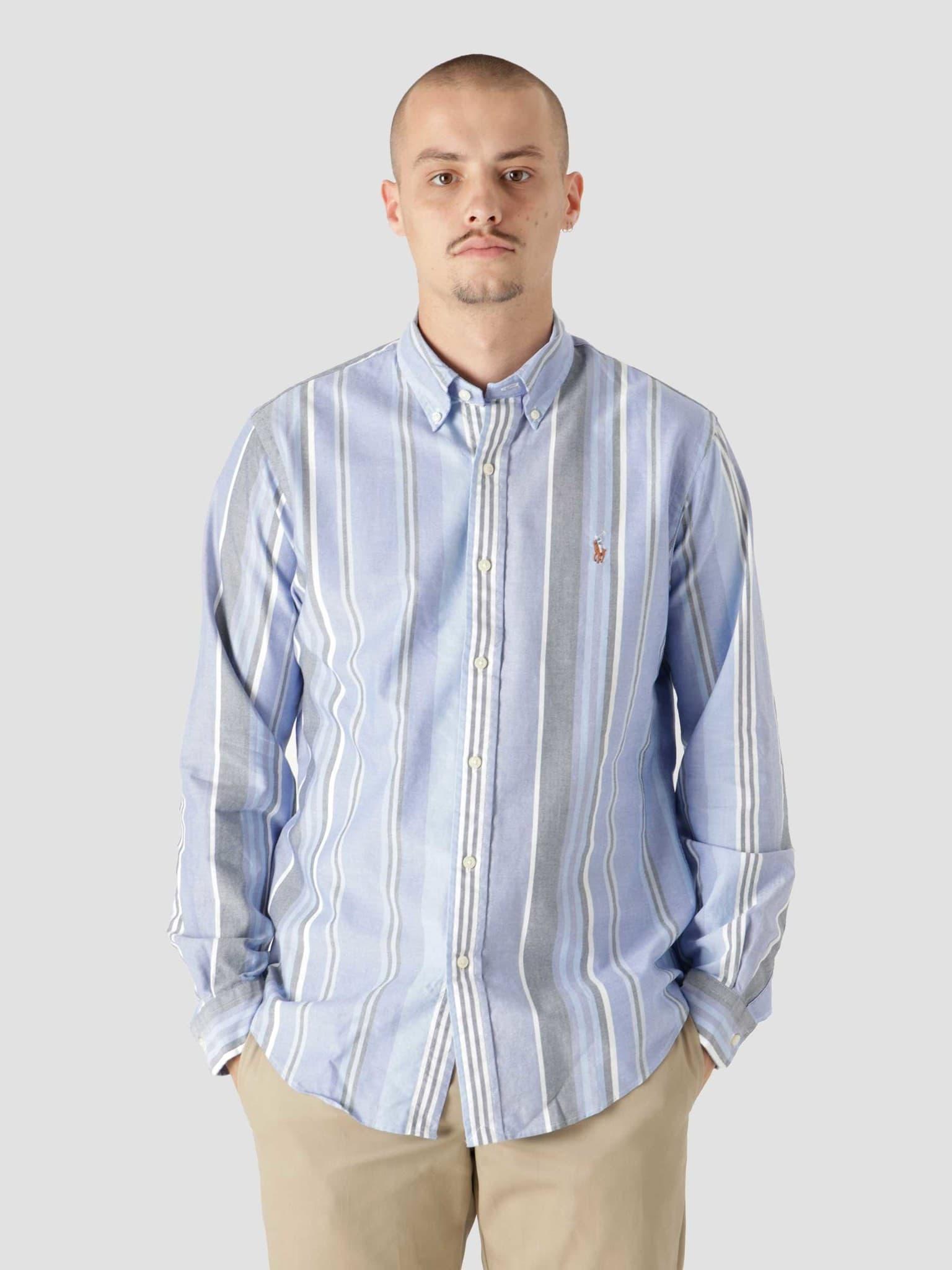 40-1 Oxford Shirt 5399 Blue White Multi 710853133002