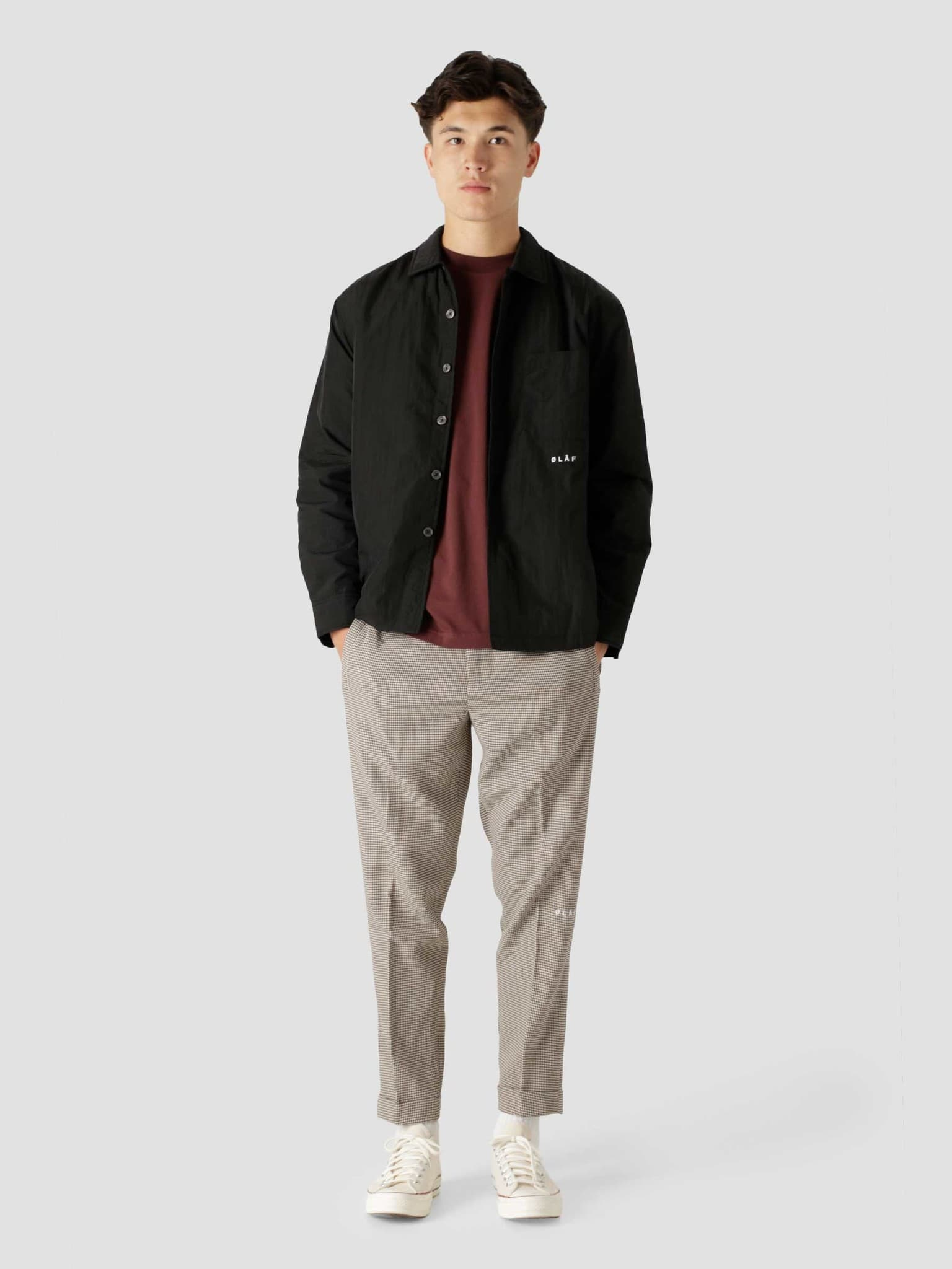 OLAF Quilted Overshirt Black