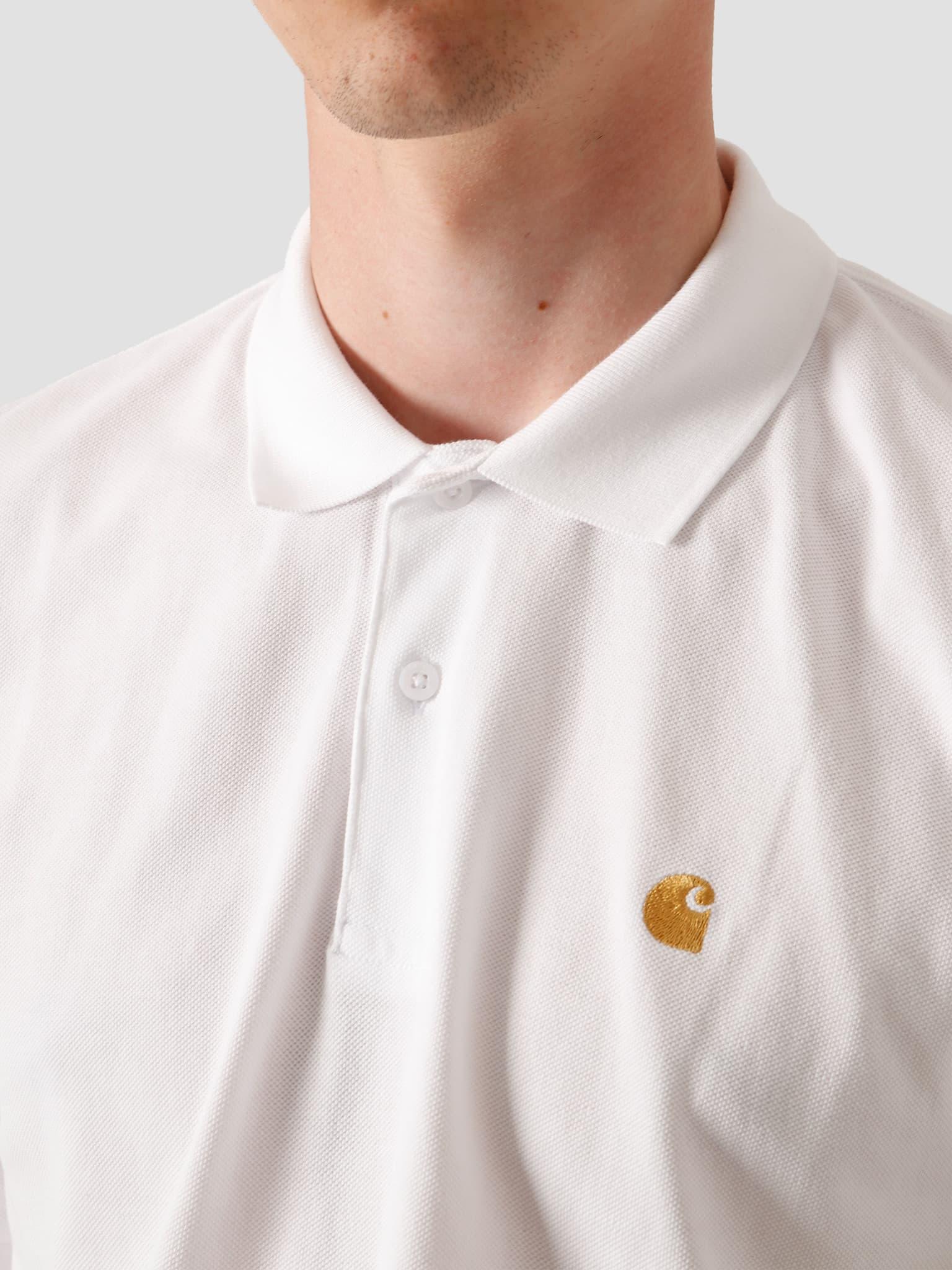 Chase Pique Polo White Gold I023807