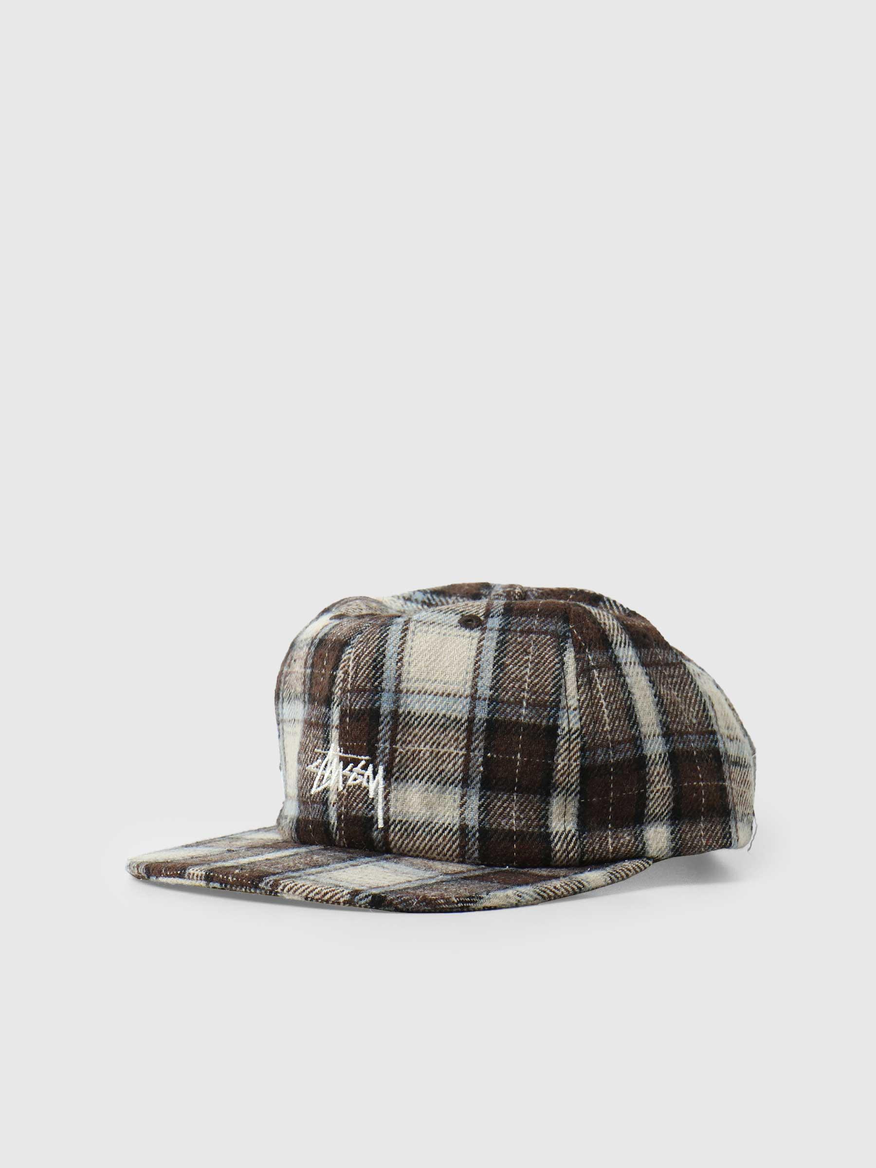 Flannel Plaid Stock Strapback Brown 1311009
