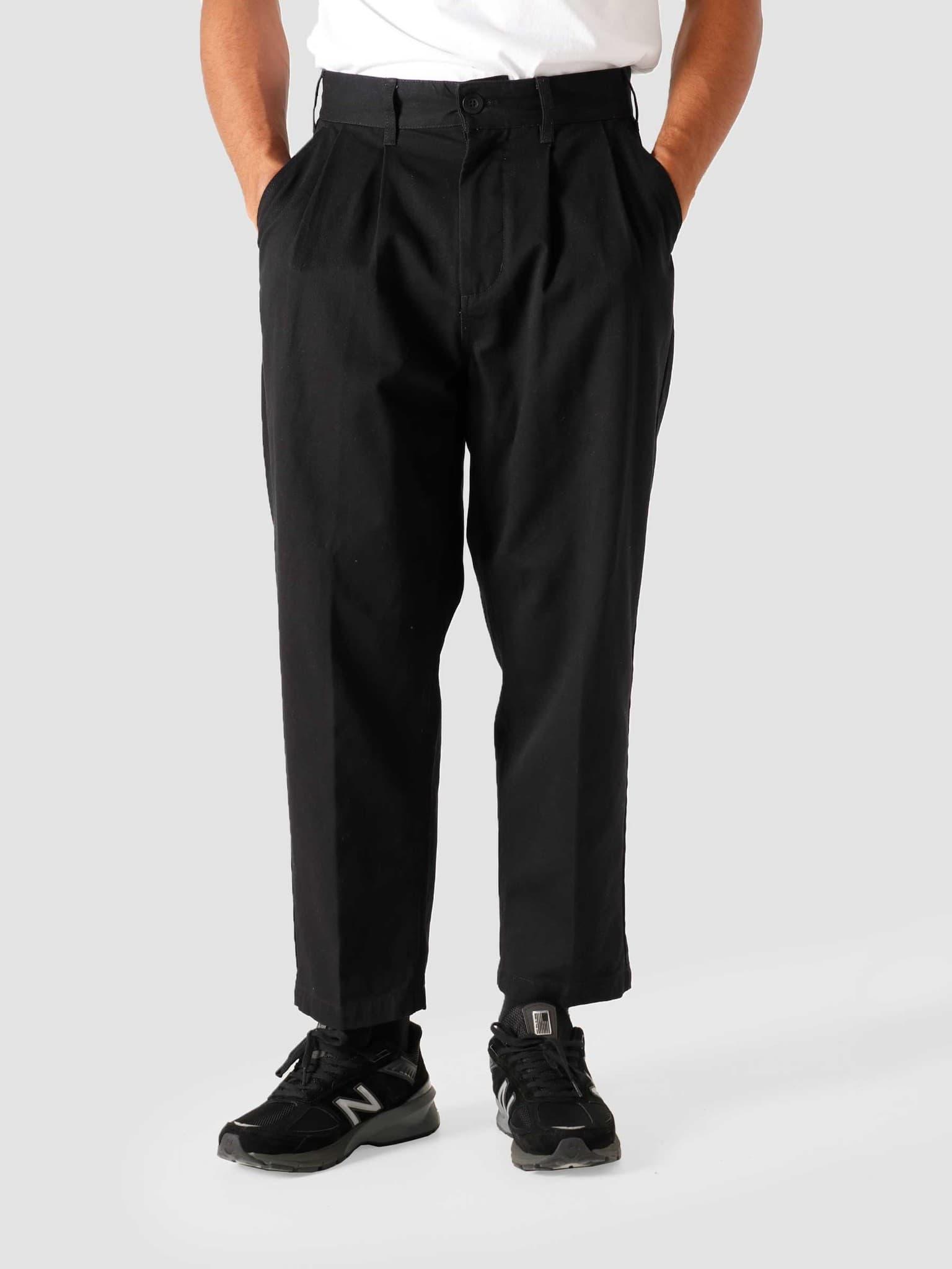 Fubar Pleated Pant Black 142020106