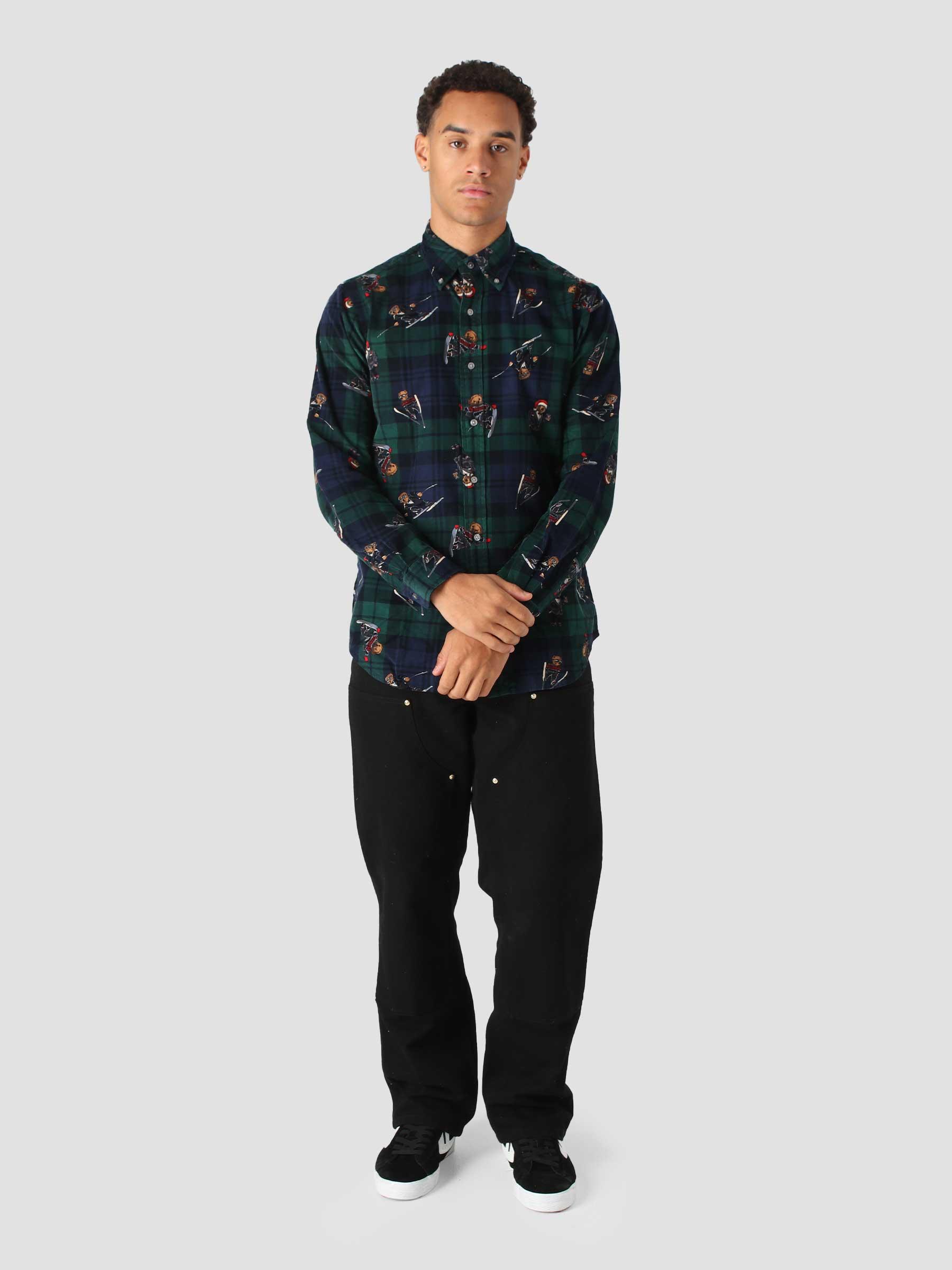80-2 21W Corduroy Shirt 4213 Blackwatch Bears 710851340001