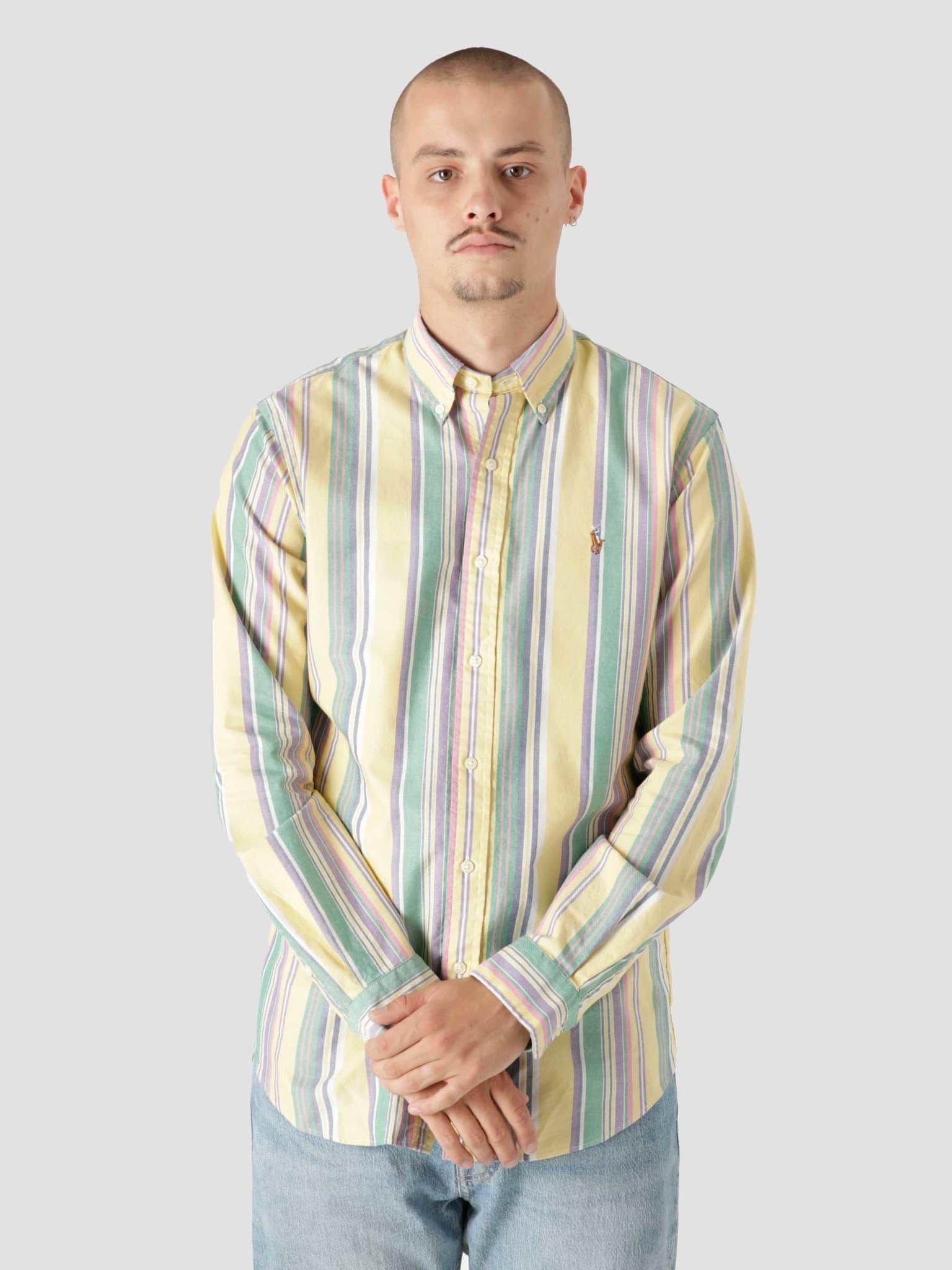 40-1 Oxford Shirt 5397 Yellow Blue Multi 710853133001