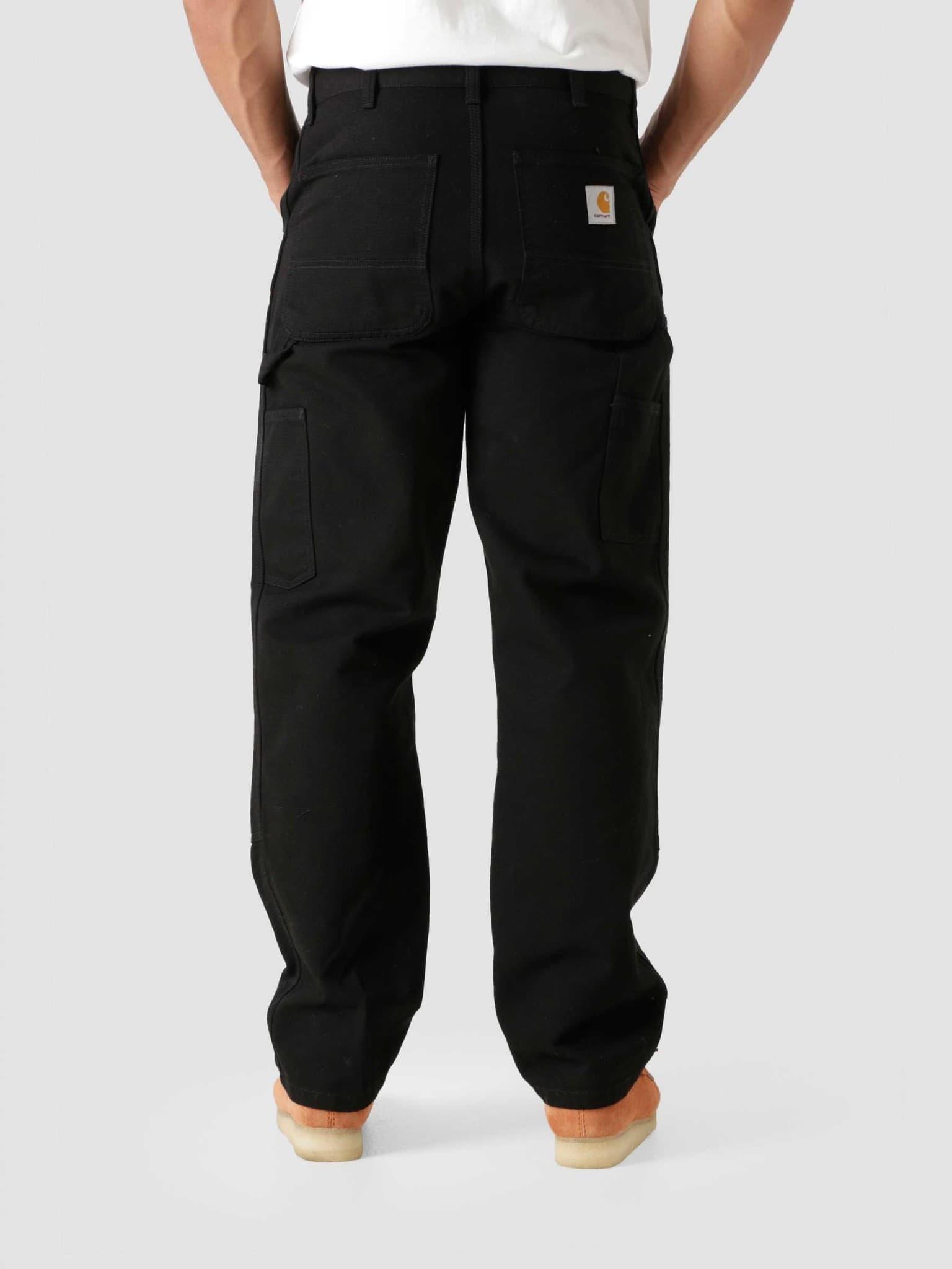 Double Knee Pant Black Rinsed I029196-8902