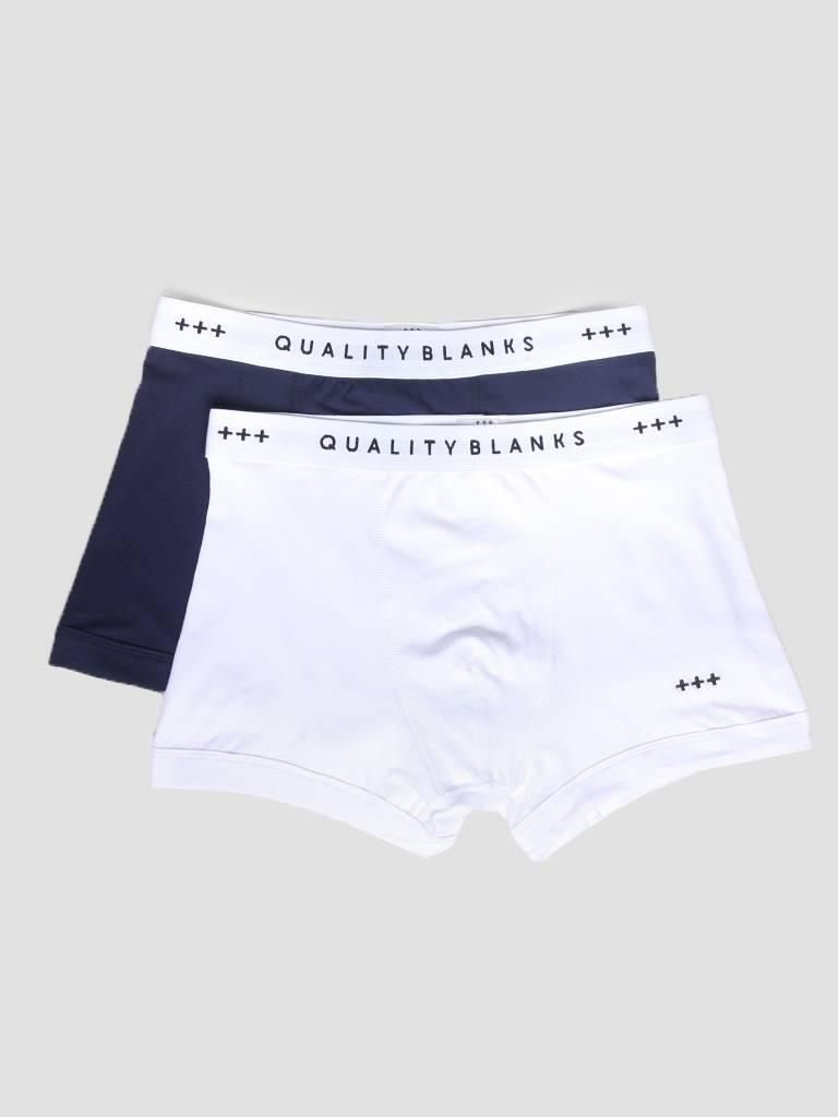 QB04 2-pack Trunks Navy White
