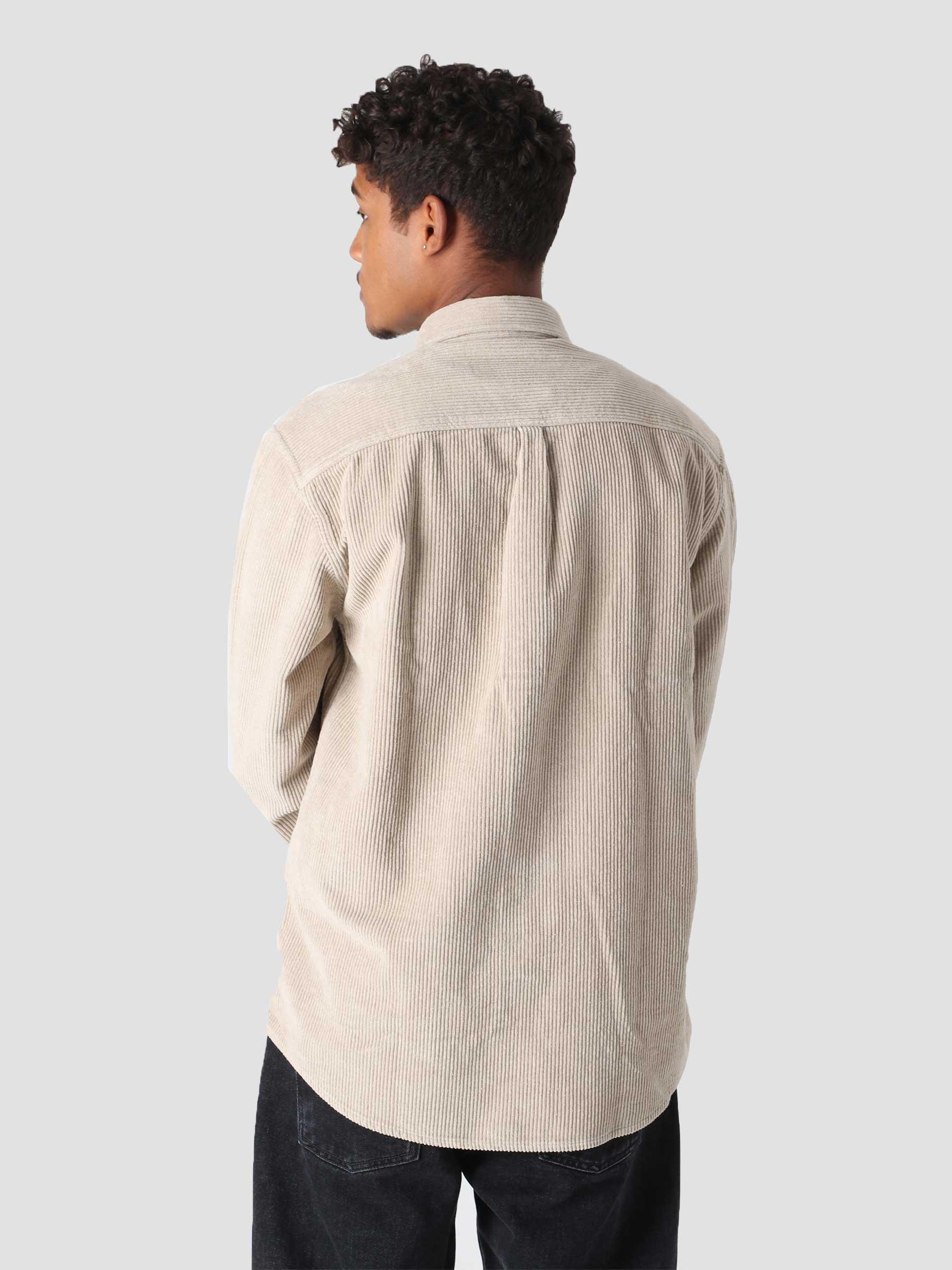 QB41 Cord Shirt Stone