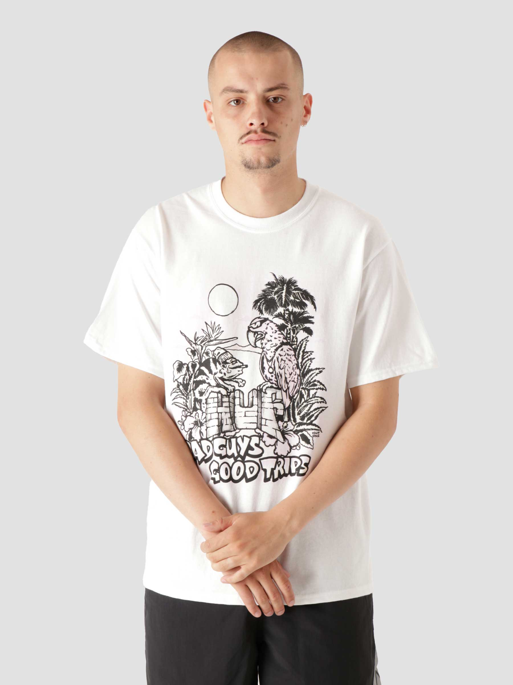 Vacation Uv Color S/S Tee White TS01413